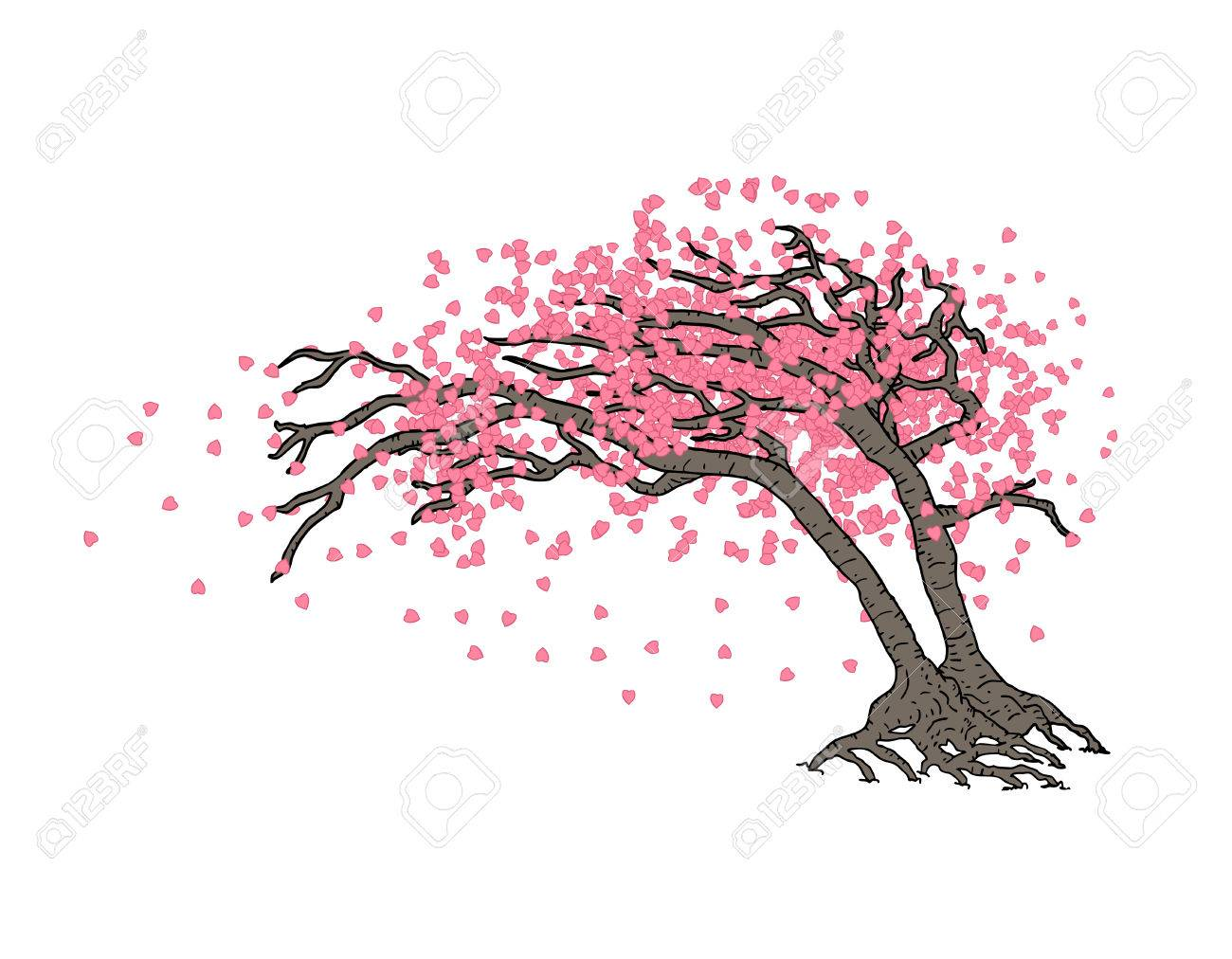 Japanese Tree Royalty Free Cliparts Vectors And Stock