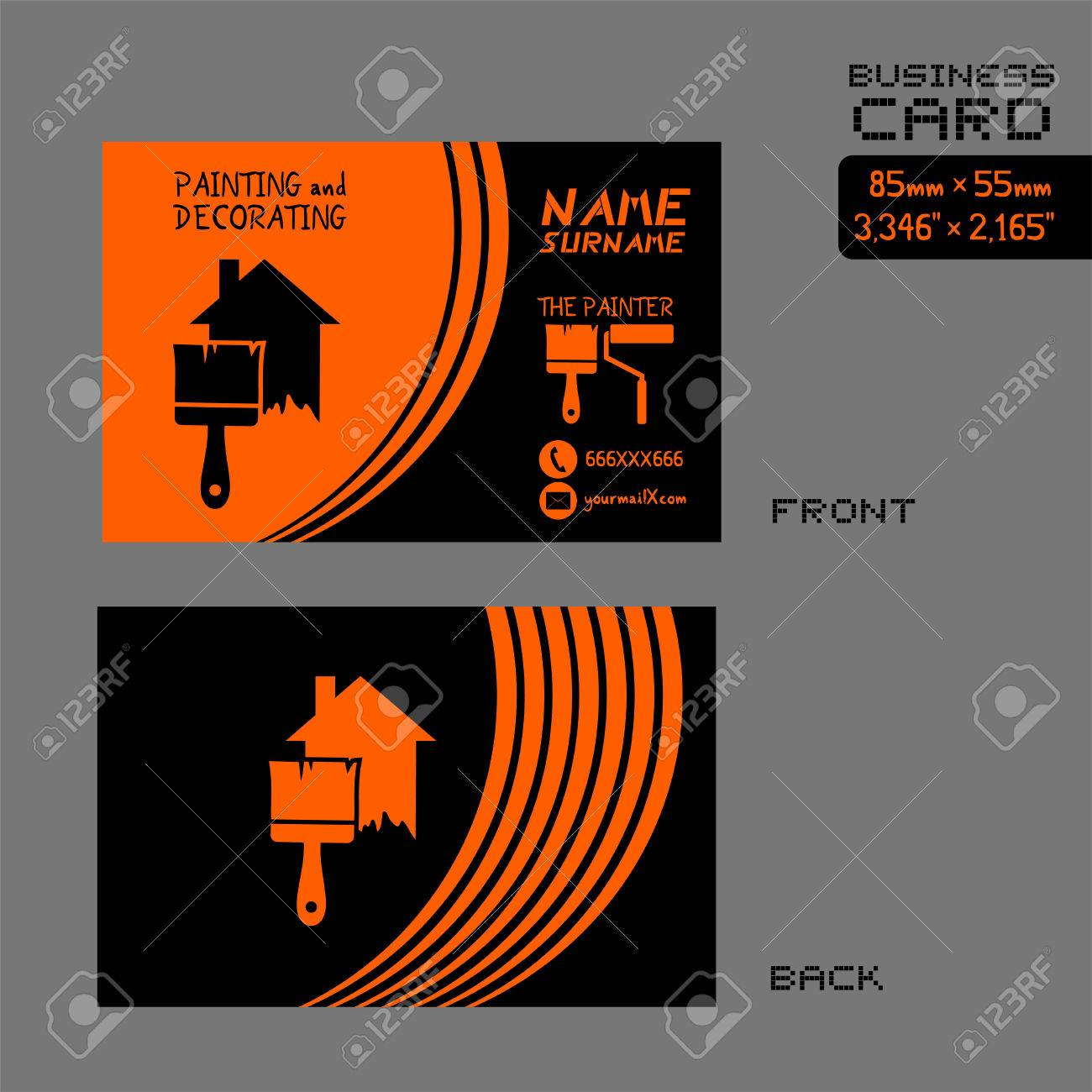 Business card for painter worker royalty free cliparts vectors business card for painter worker stock vector 84416530 magicingreecefo Gallery