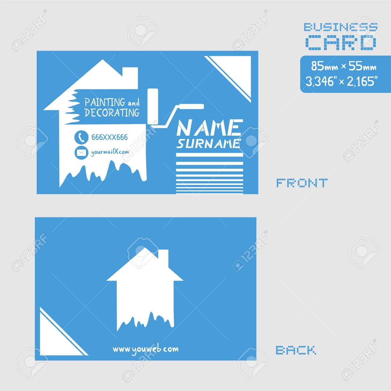 Business card for painter worker royalty free cliparts vectors and business card for painter worker stock vector 84397176 colourmoves
