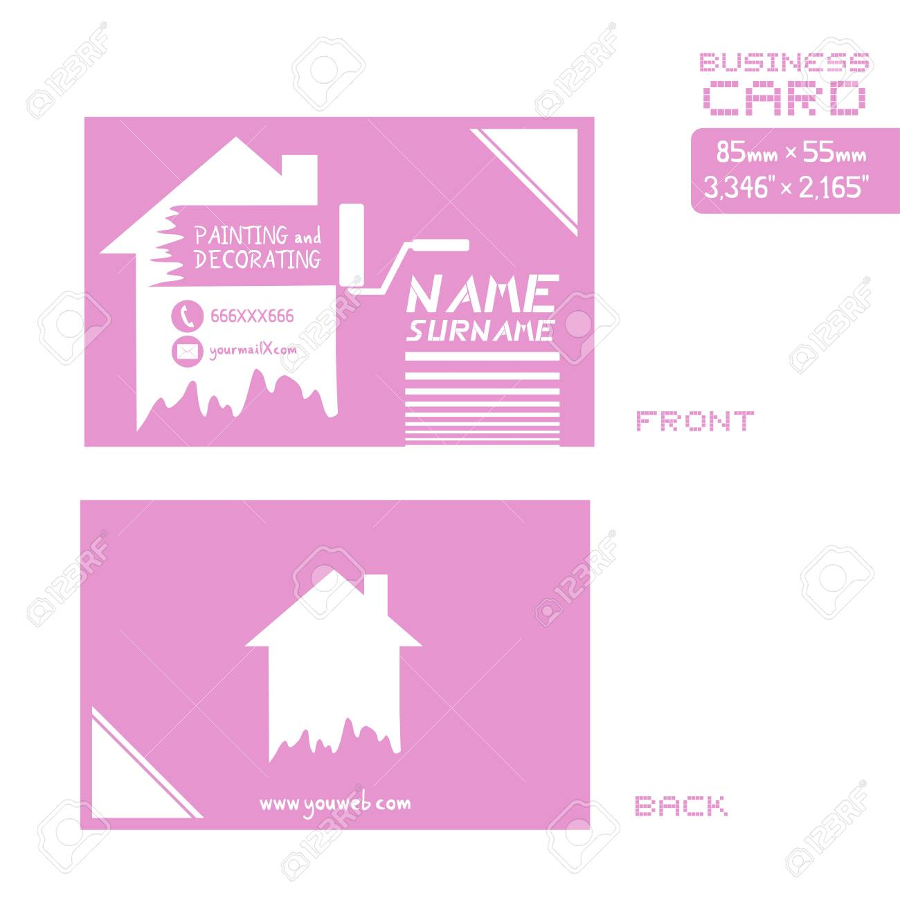 A business card for painter worker royalty free cliparts vectors a business card for painter worker stock vector 84930045 colourmoves