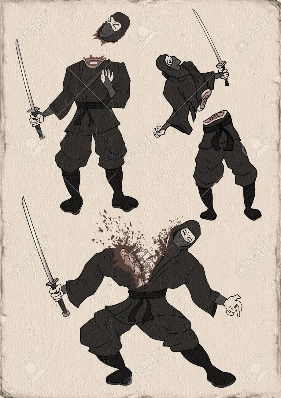 忍者イラスト ロイヤリティーフ...