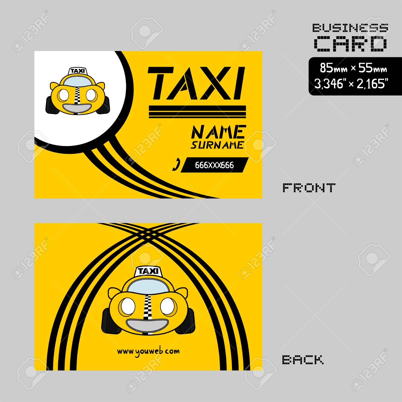 Taxi Business Card Royalty Free Cliparts, Vectors, And Stock ...