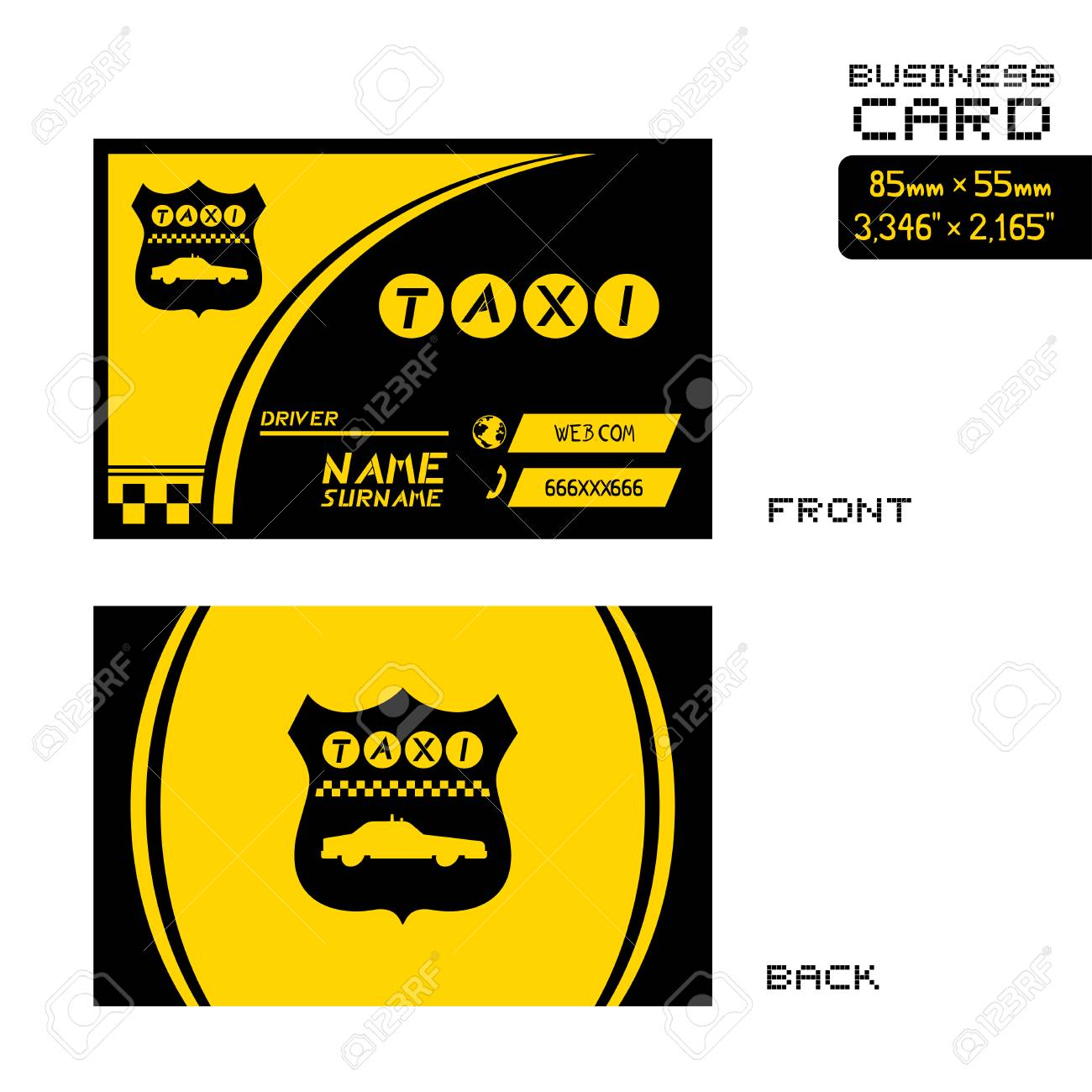 Taxi Business Card Royalty Free Cliparts Vectors And Stock