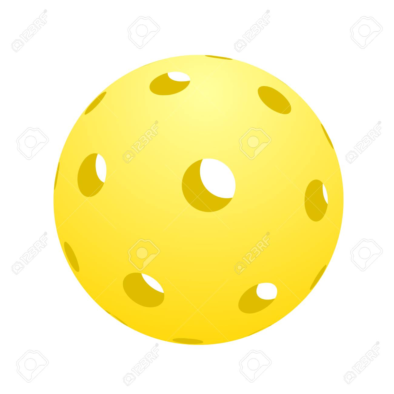 ball of pickle ball icon illustration. - 93840616