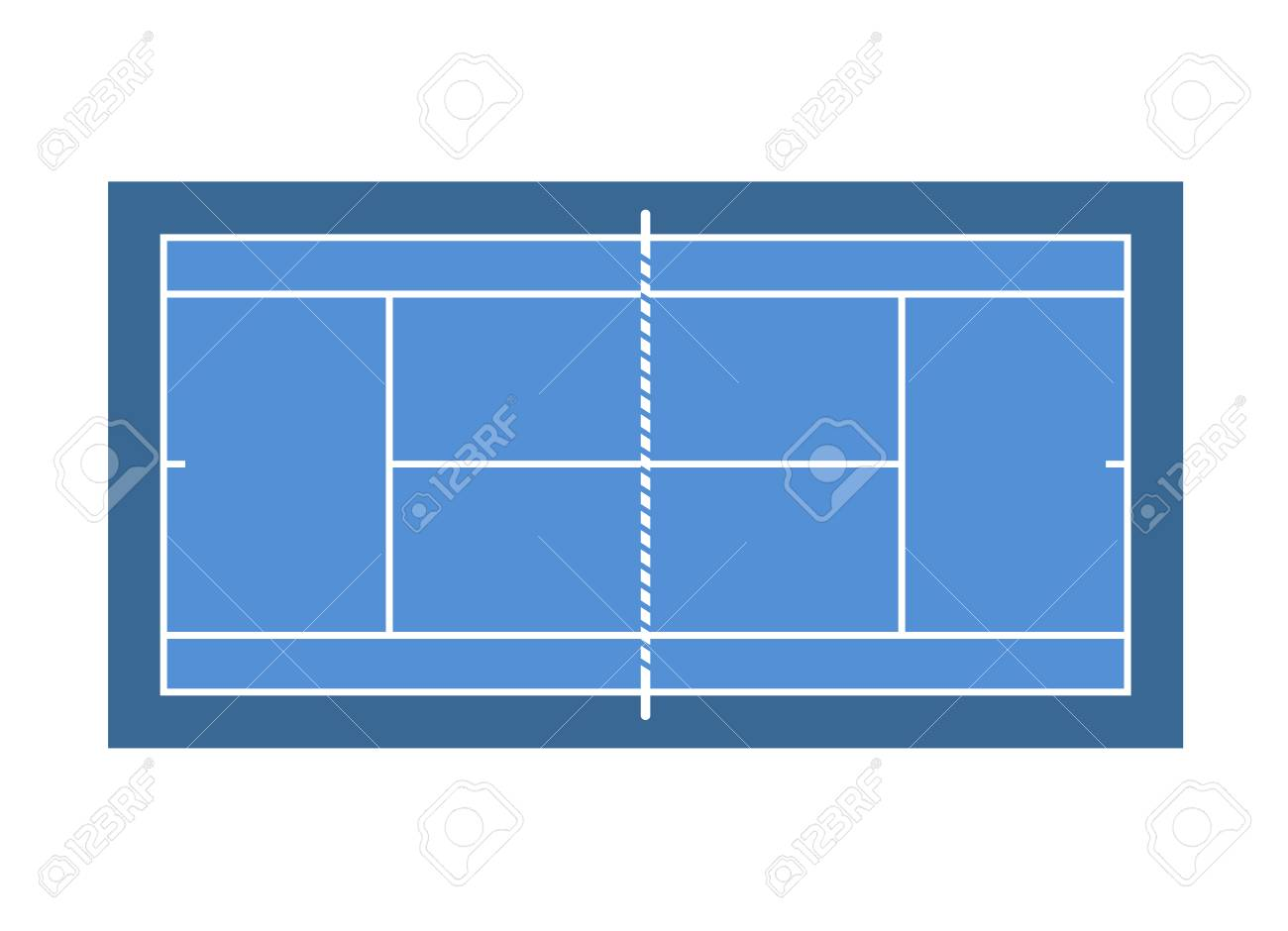 A Blue Tennis Court Design Isolated On Plain Background Royalty Free Cliparts Vectors And Stock Illustration Image 97027036