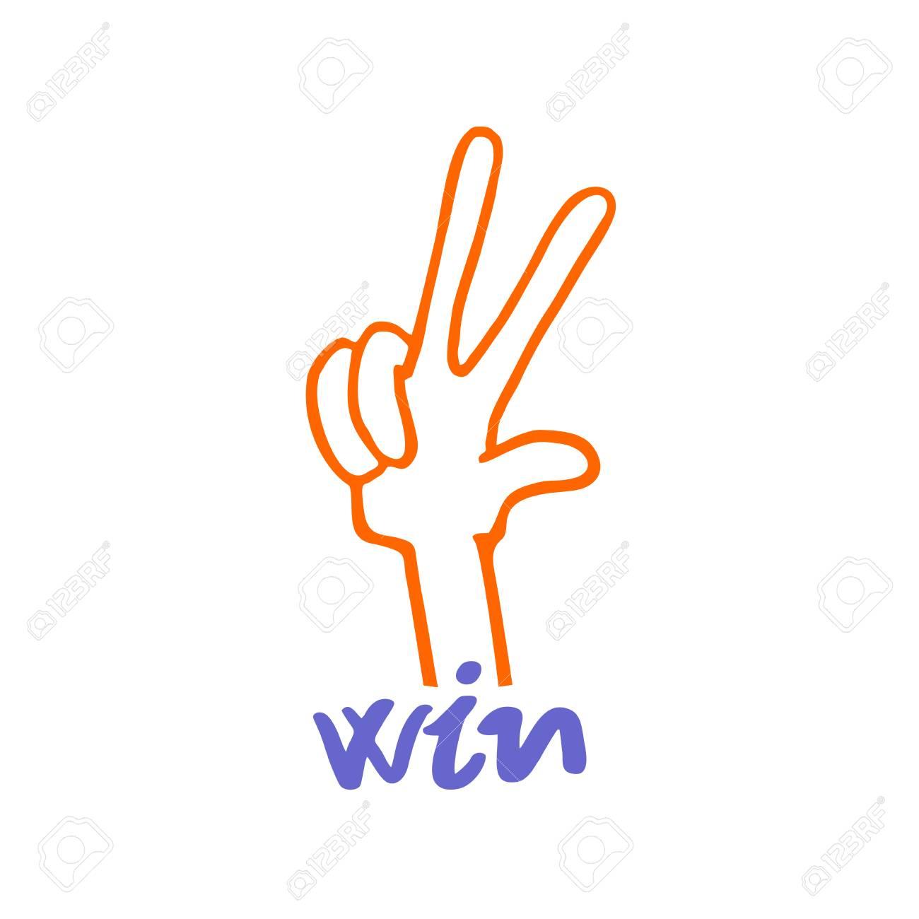 winner hand icon - 115098146