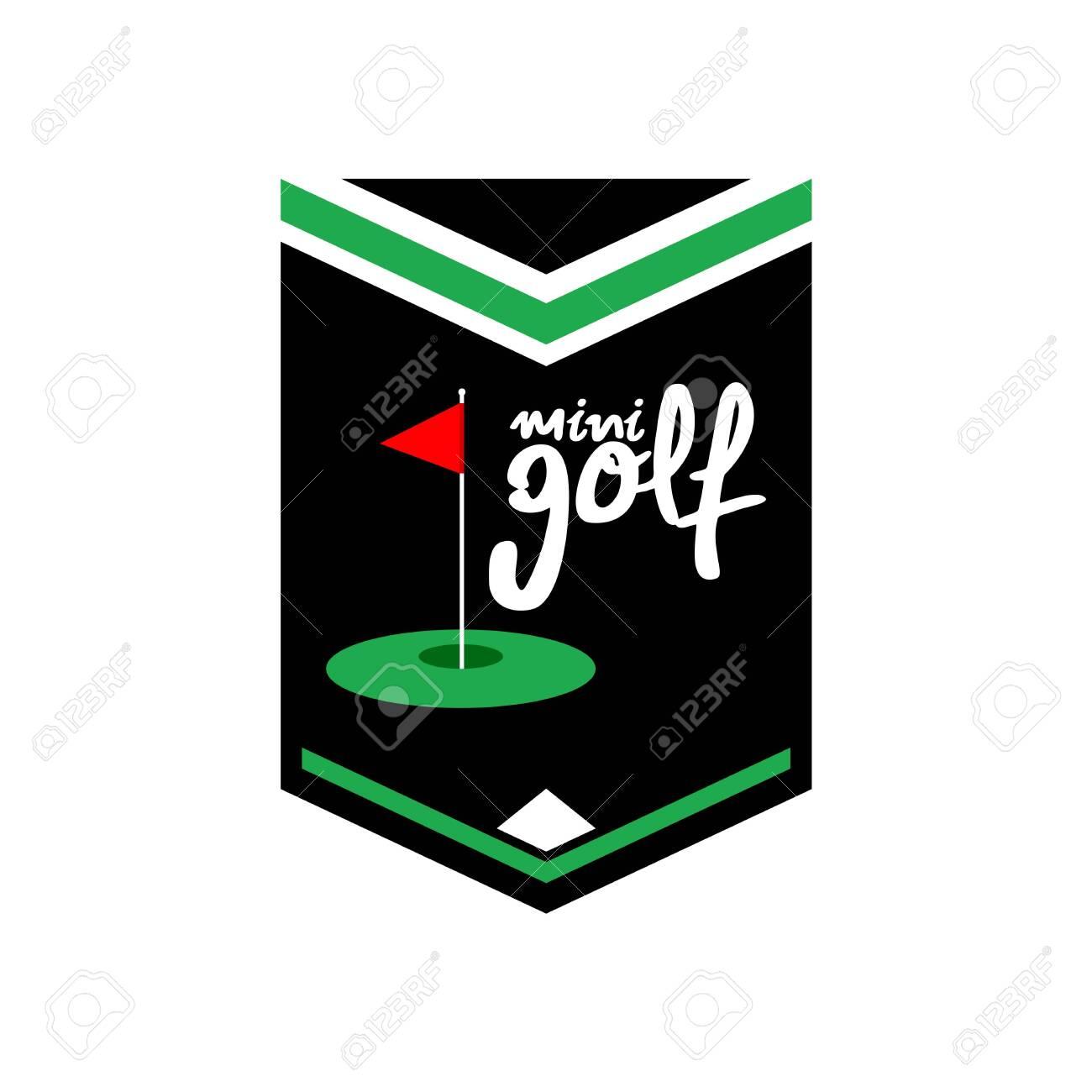 Mini Golf Emblem Design Royalty Free Cliparts Vectors And Stock Illustration Image 128790937