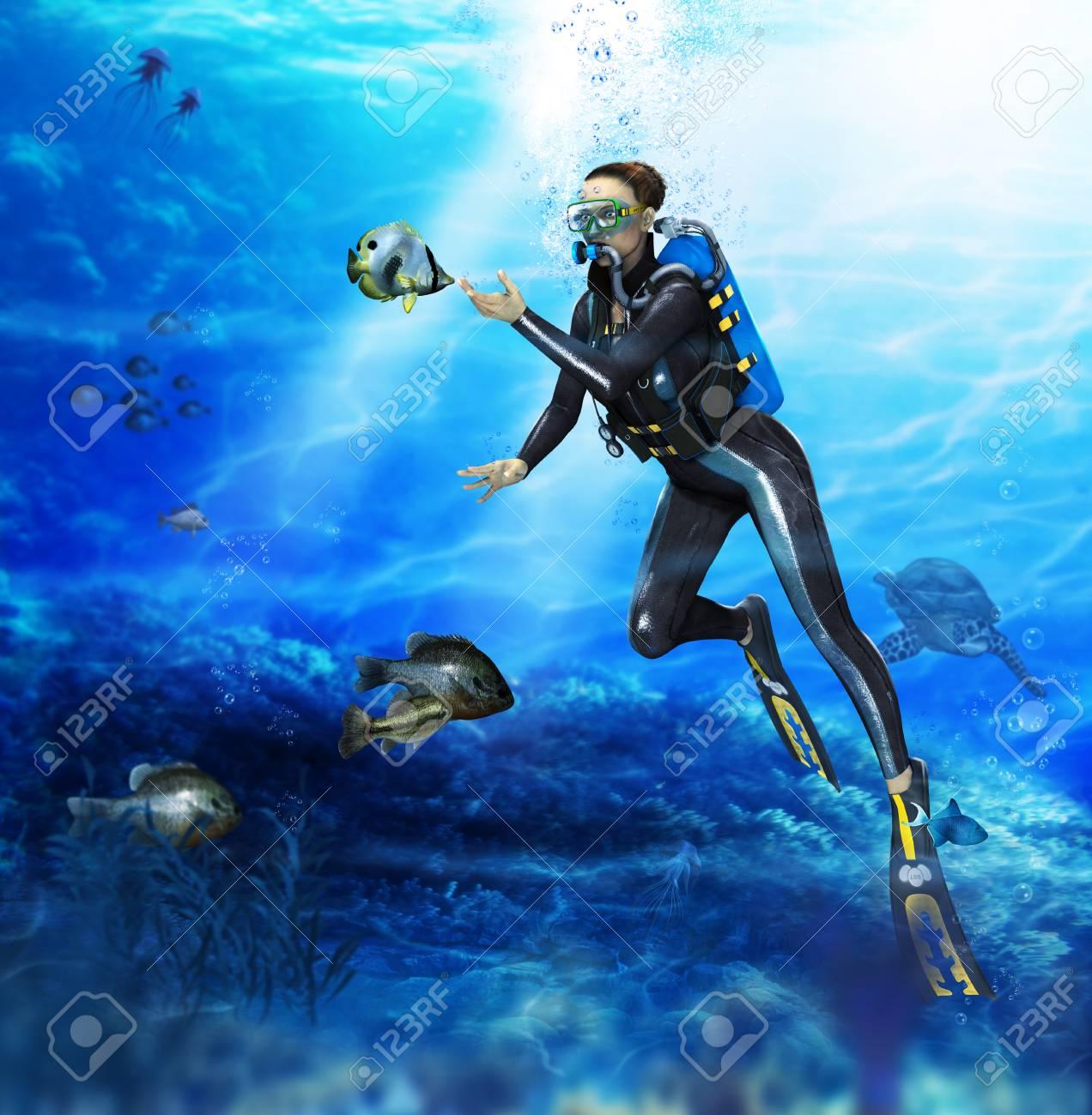 rencontre femme plongeuse