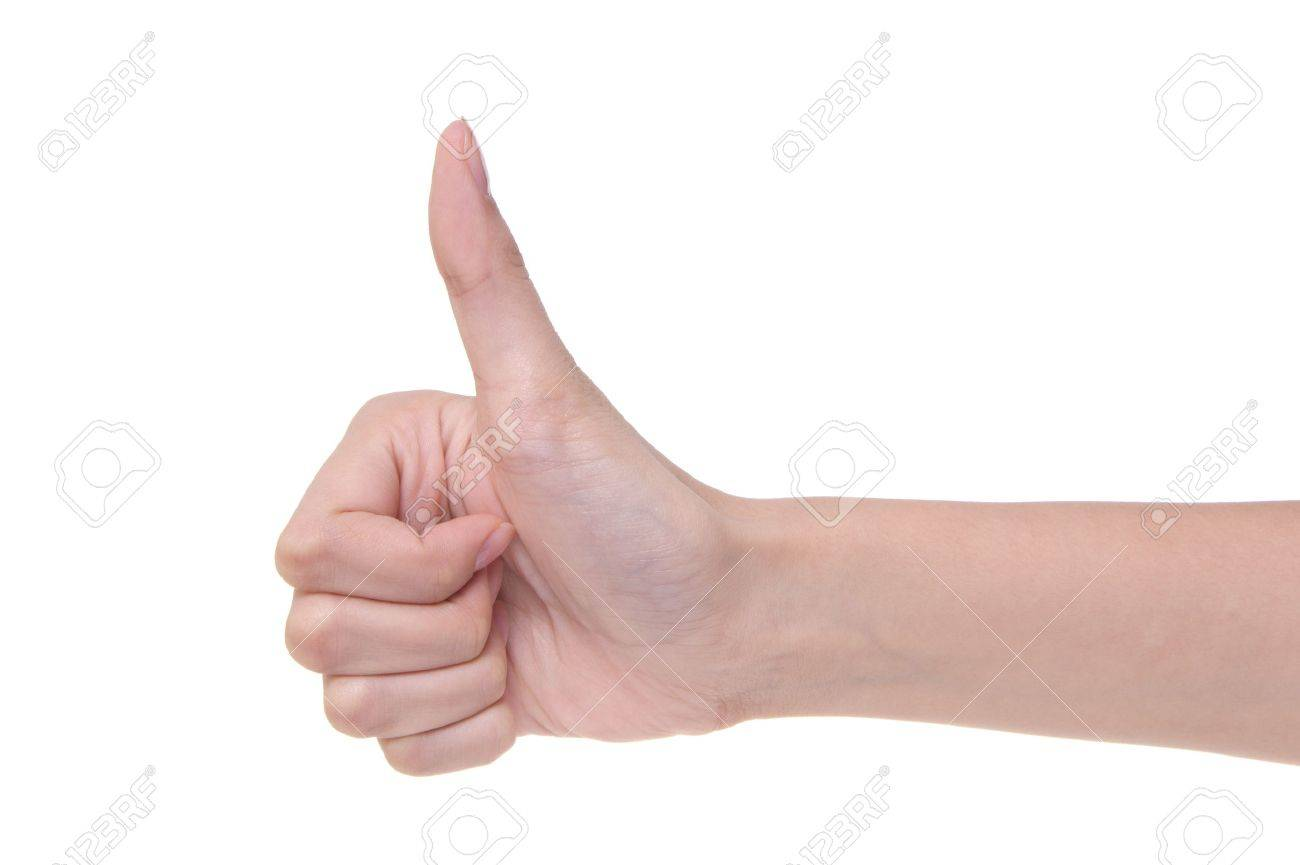 Approving gesture of a hand on a white background Stock Photo - 7728481