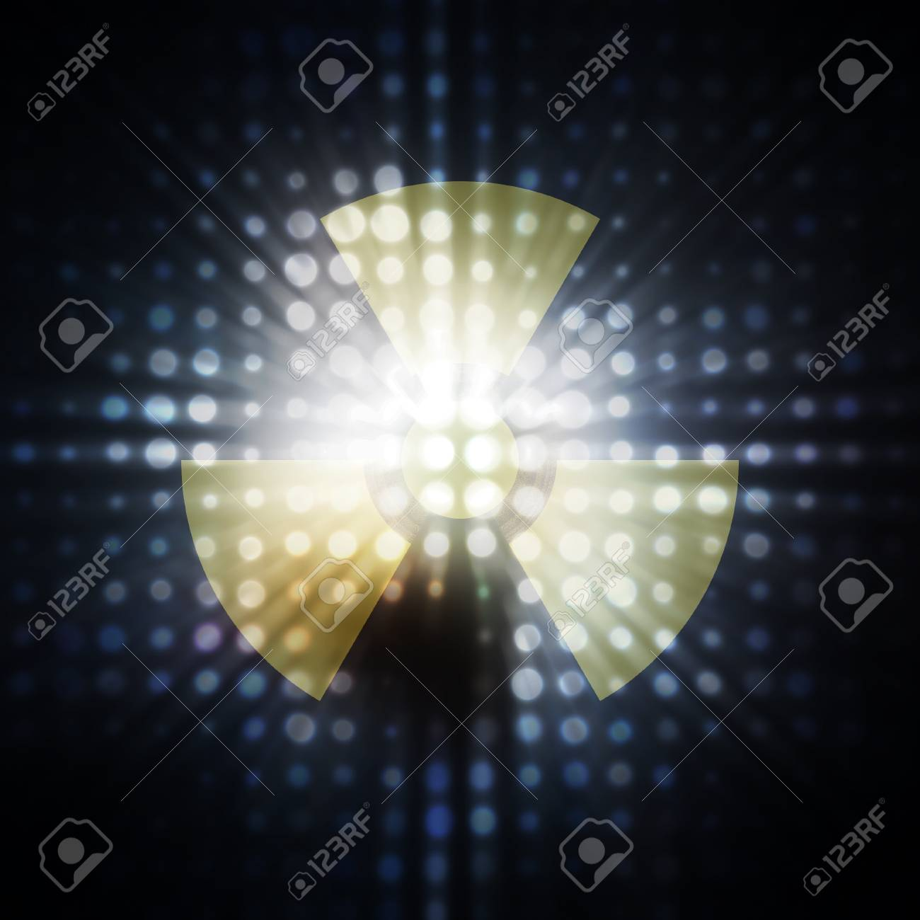Sign on radioactive danger against light radiation Stock Photo - 9280851