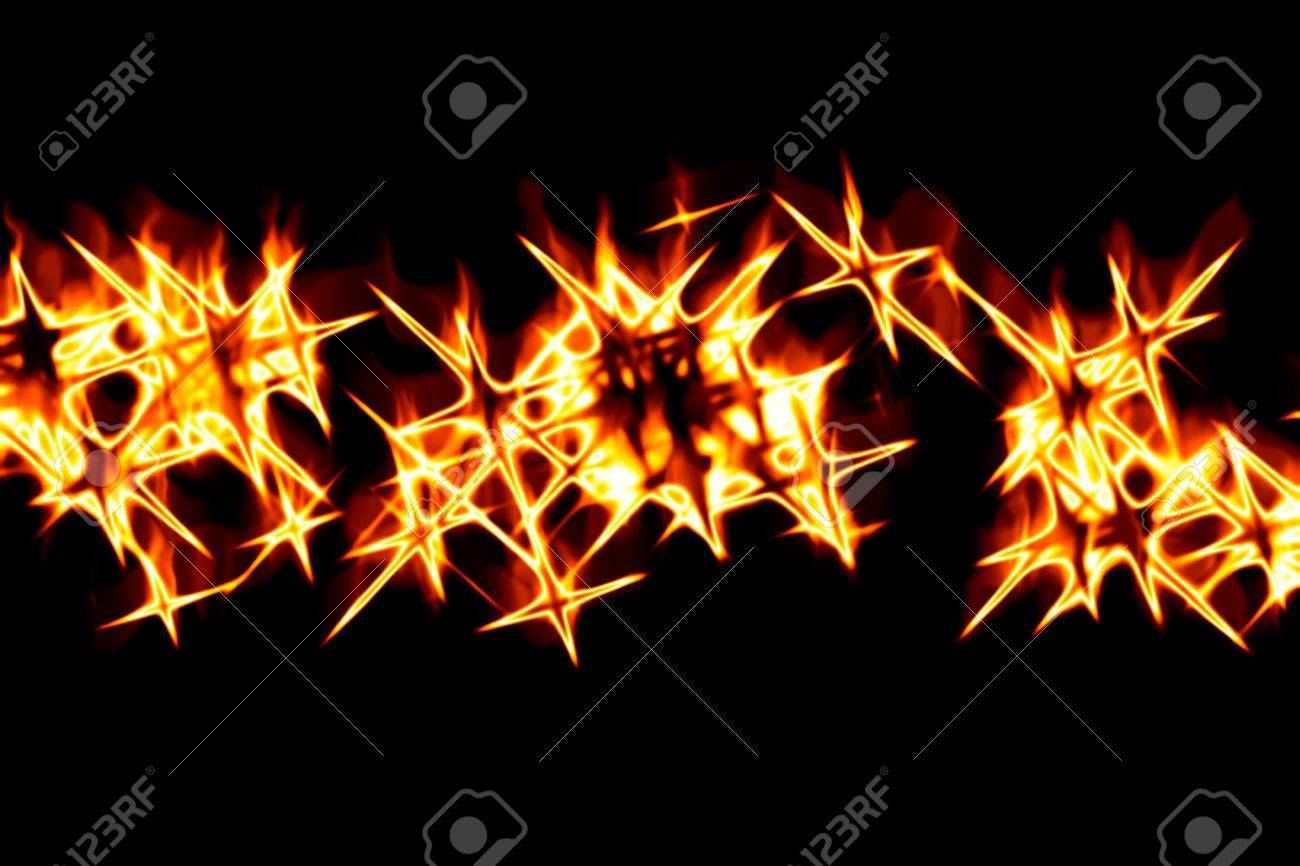 Abstract fiery drawing against a dark background Stock Photo - 10785237