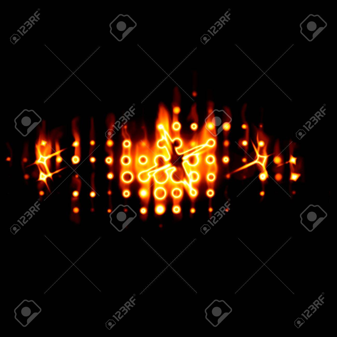 Abstract fiery drawing against a dark background Stock Photo - 10785217