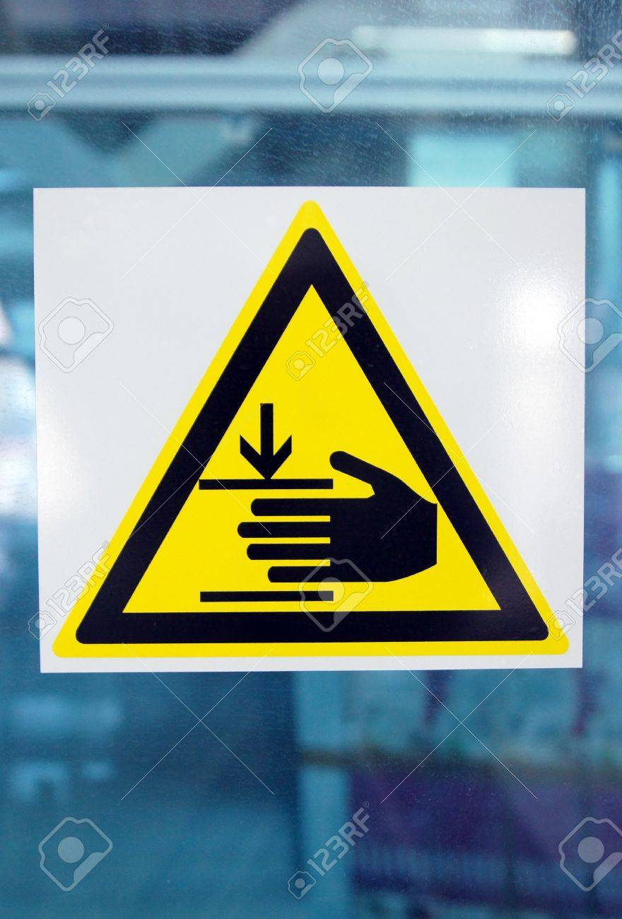 Danger sign on a glass wall Stock Photo - 12413319