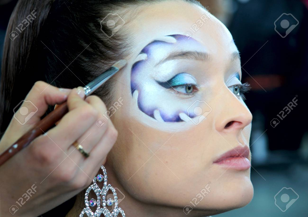The XV Championship of Moscow on hairdressers art, decorative cosmetics, modeling and design of nails Stock Photo - 13021848