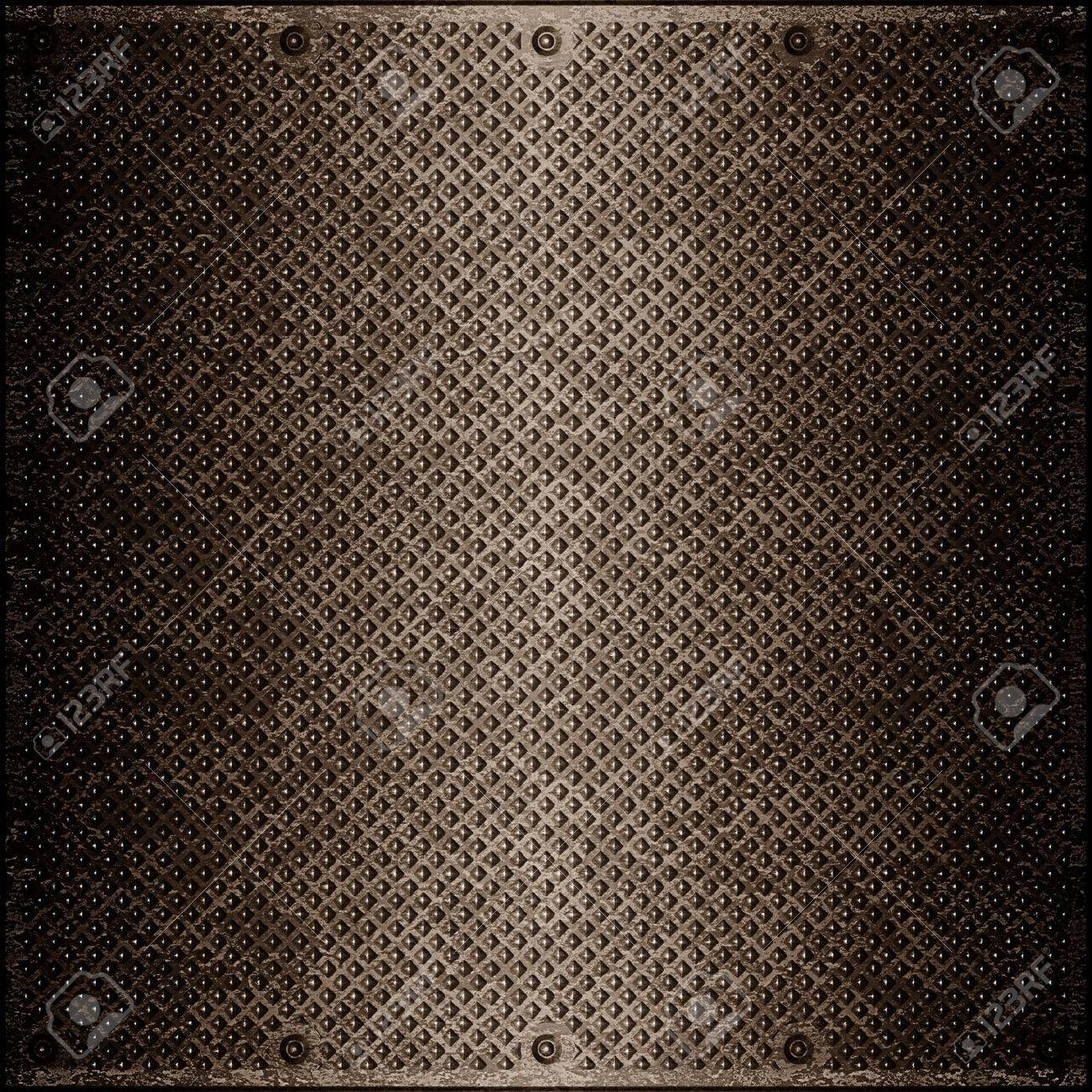 impressive metal surface tinted by brown color Stock Photo - 13643047
