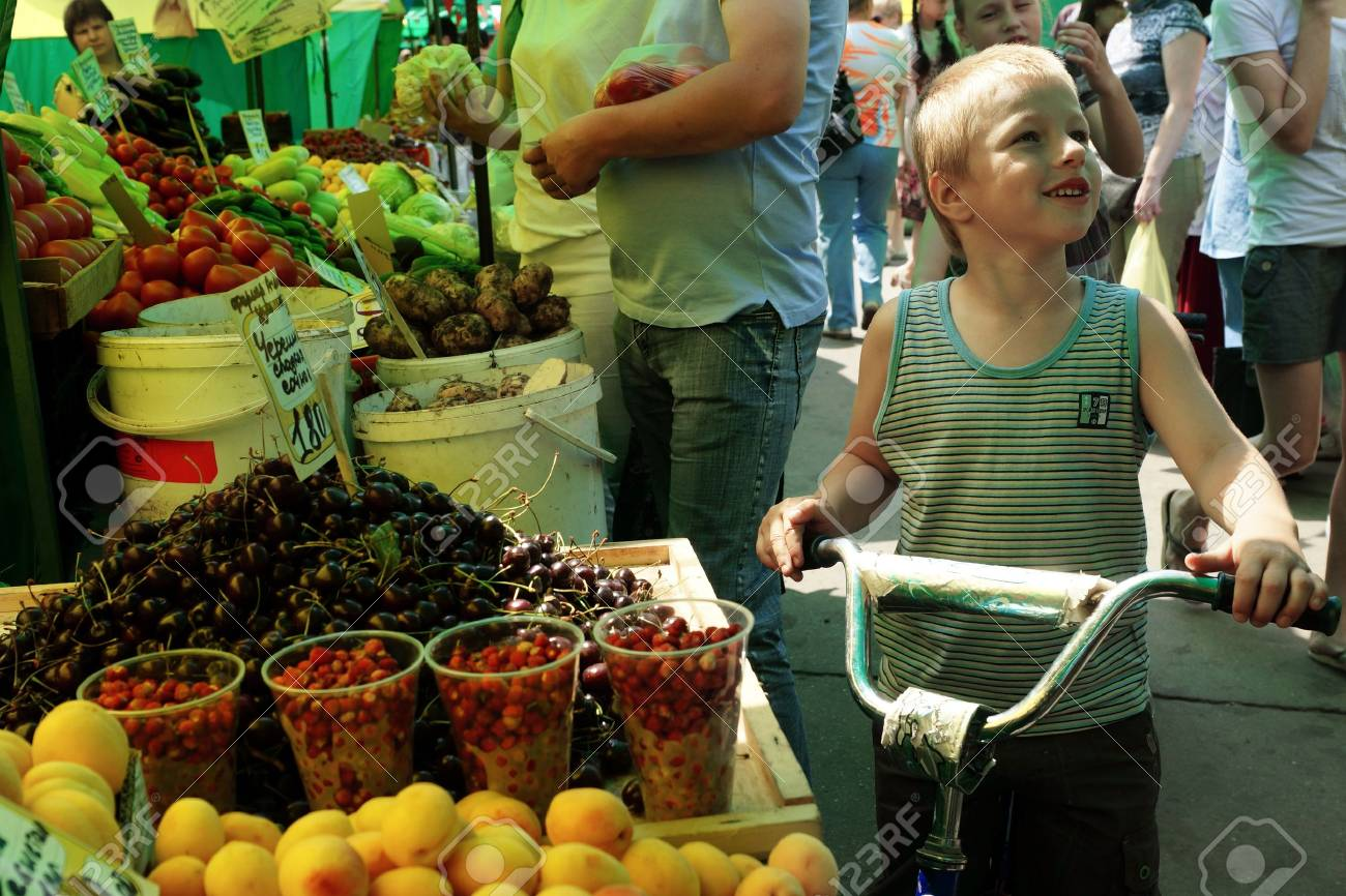 23.06.2011 Moscow, vegetable market. Stock Photo - 14359699
