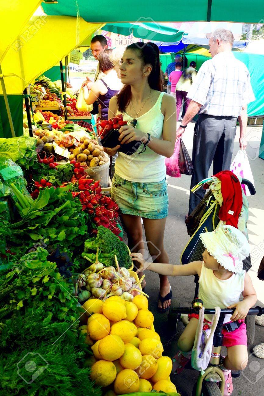 23.06.2011 Moscow, vegetable market. Stock Photo - 14359695