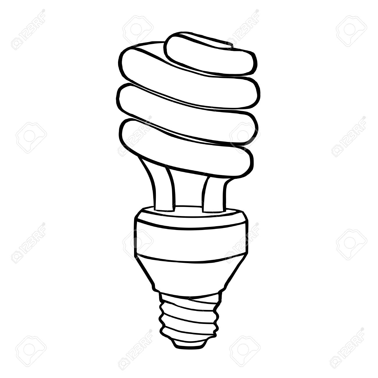spiral energy saving electric discharge l contour drawing stock  spiral energy saving electric discharge l contour drawing stock photo 37493461