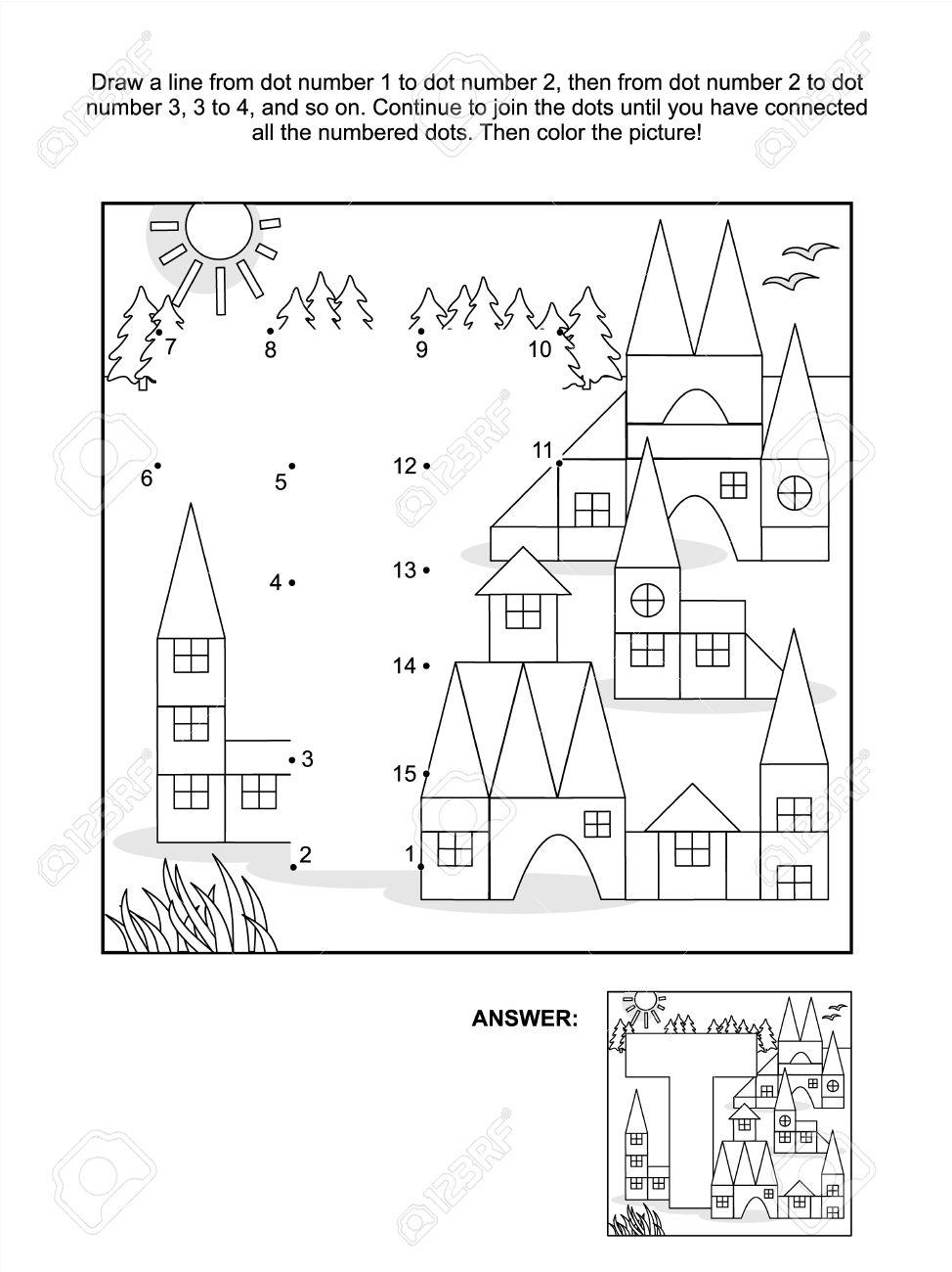 Vettoriale Formazione Collegare Il Puzzle Di Punti Immagine E Da