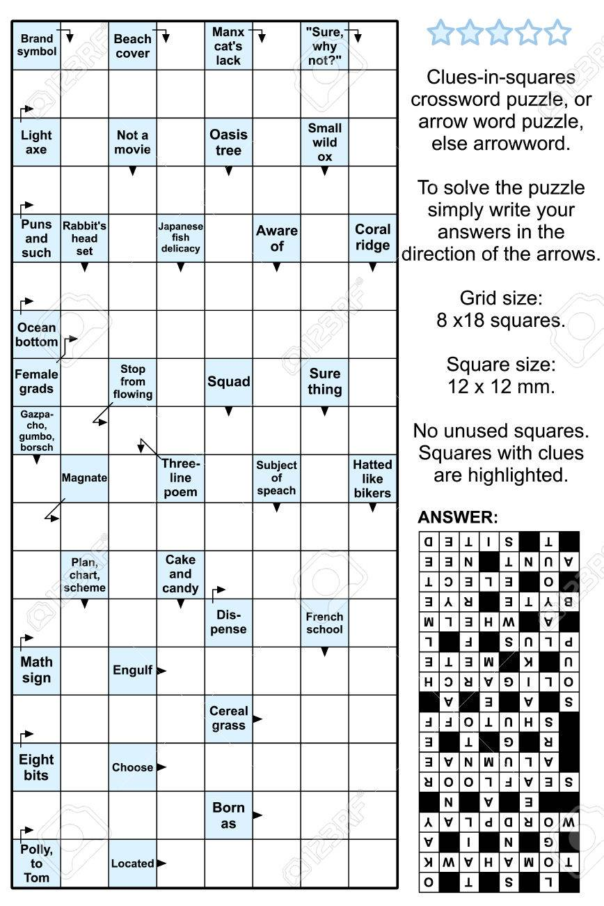 Clues In Squares Crossword Puzzle Or Arrow Word Puzzle Else