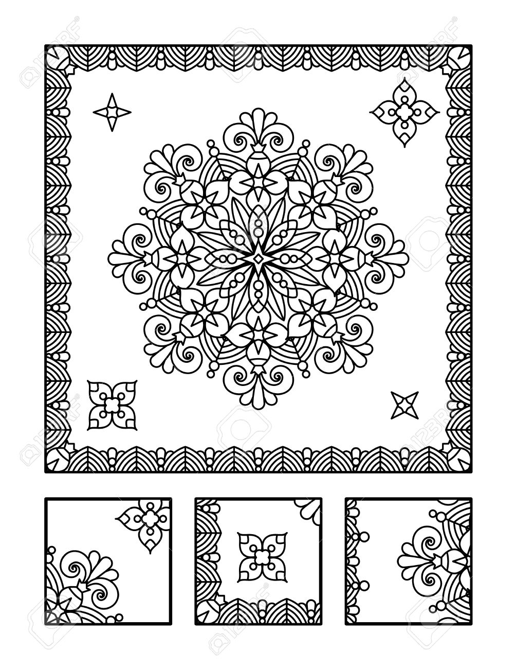 framed mandala coloring page for adults children ok too and visual puzzle puzzle directions find the