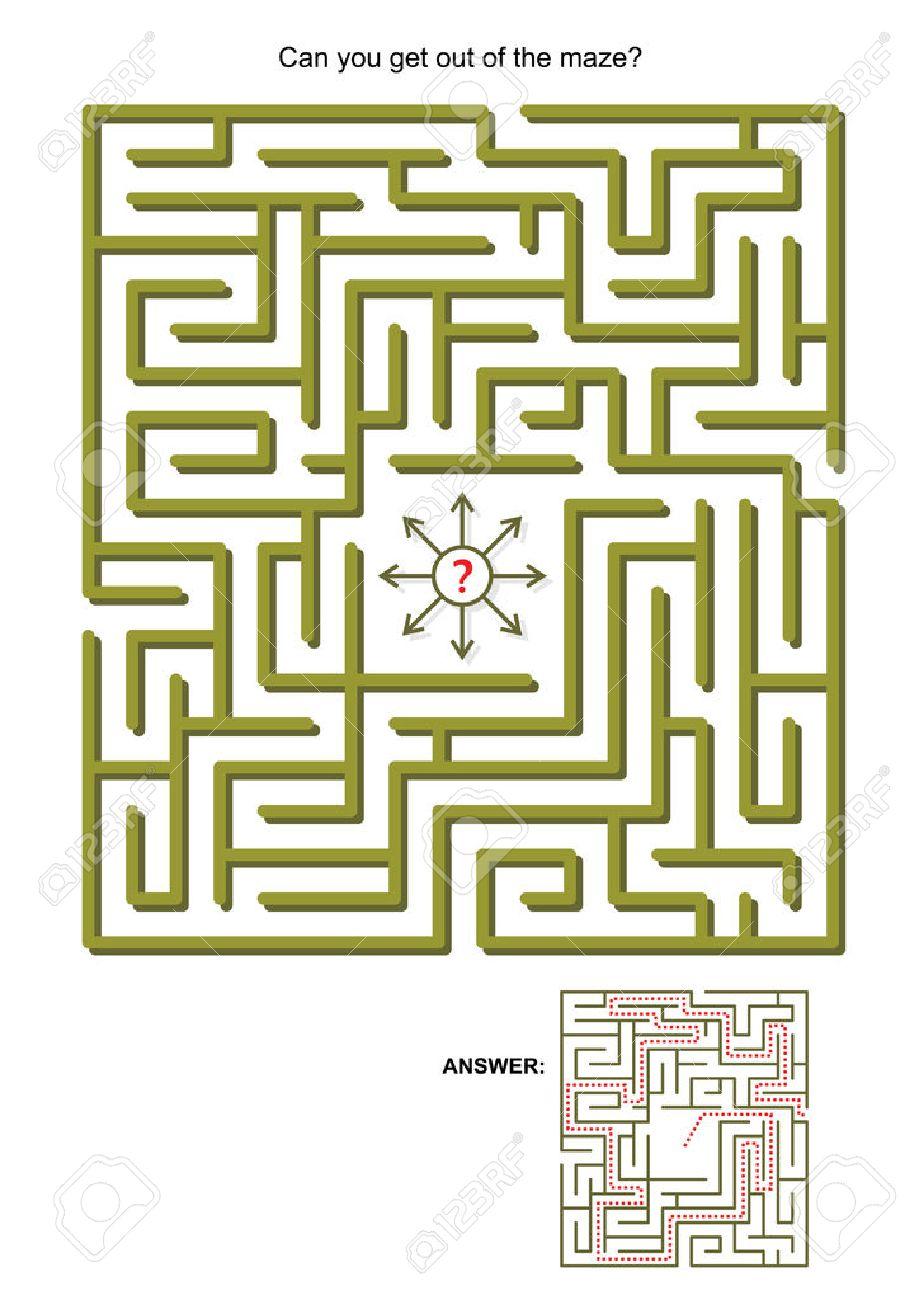 Labyrinth-Spiel Für Kinder Oder Erwachsene: Kann Man Aus Dem ...