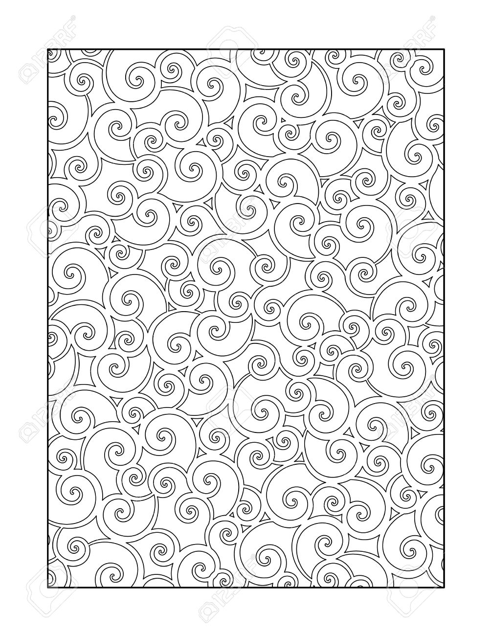 Free whimsical coloring pages for adults - Coloring Page For Adults Children Ok Too With Whimsical Swirls Pattern Or Monochrome Decorative