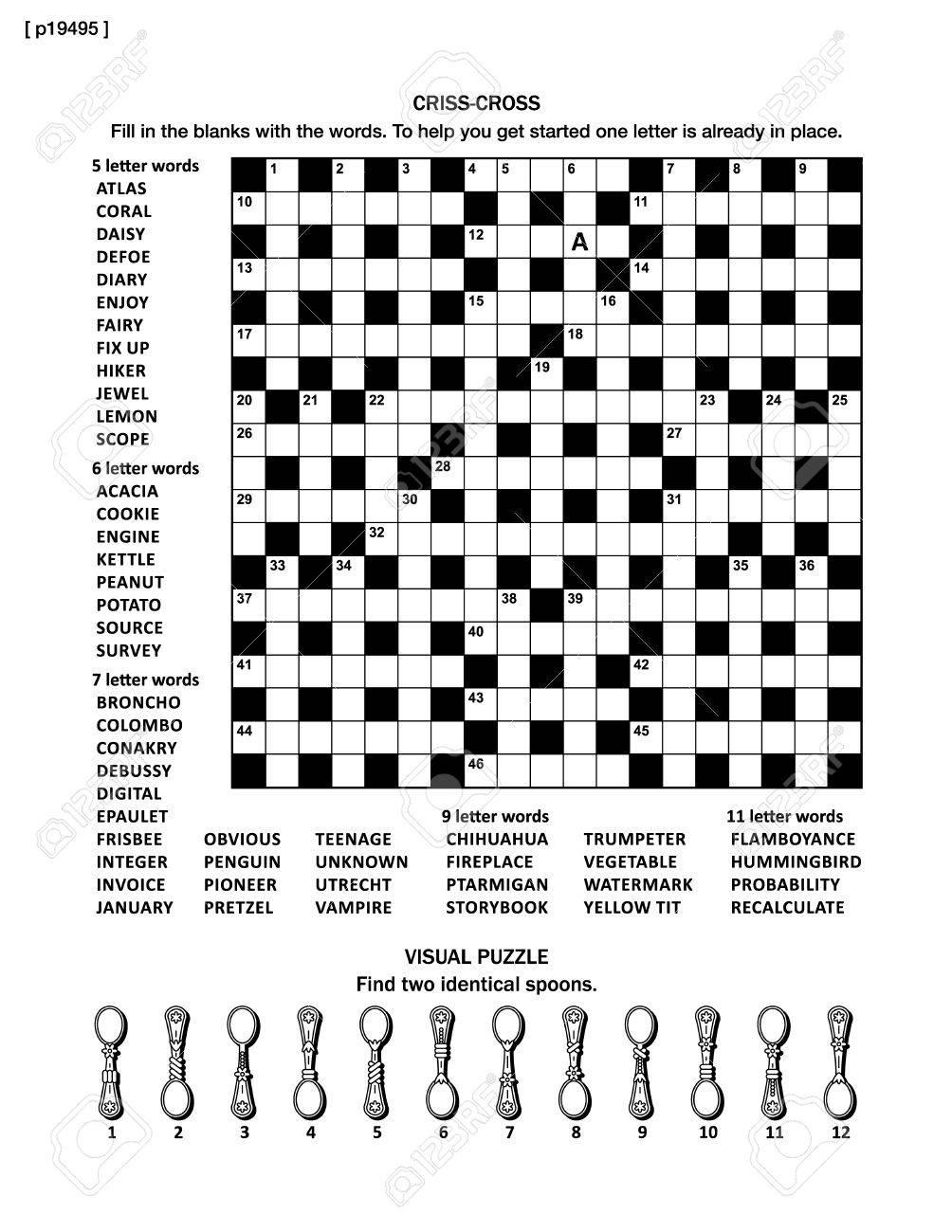 Puzzle Página Con Dos Puzzles: 19x19 Gran Cruzada Juego De Palabras ...