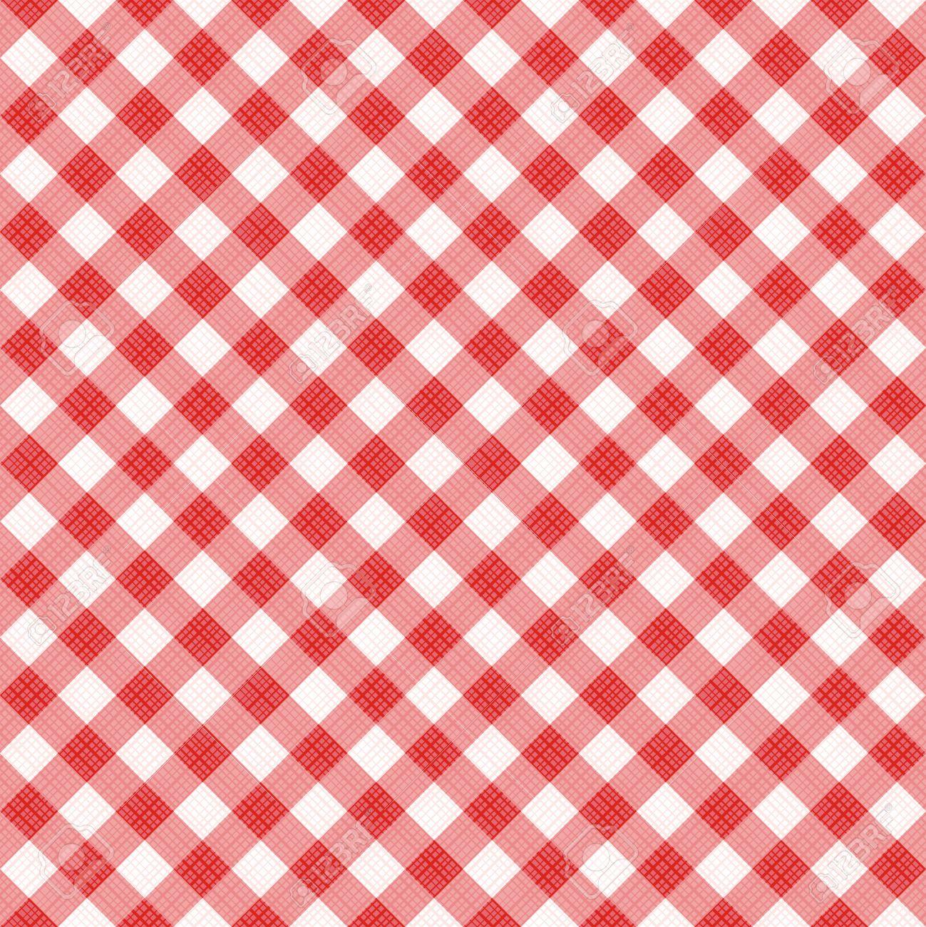 Banque Du0027images   Seamless (vous Voyez 4 Tuiles) Diagonale Rouge De Tissu  De Tissu Vichy, Modèle, Swatch, Fond, Texture Ou Le Papier Peint.