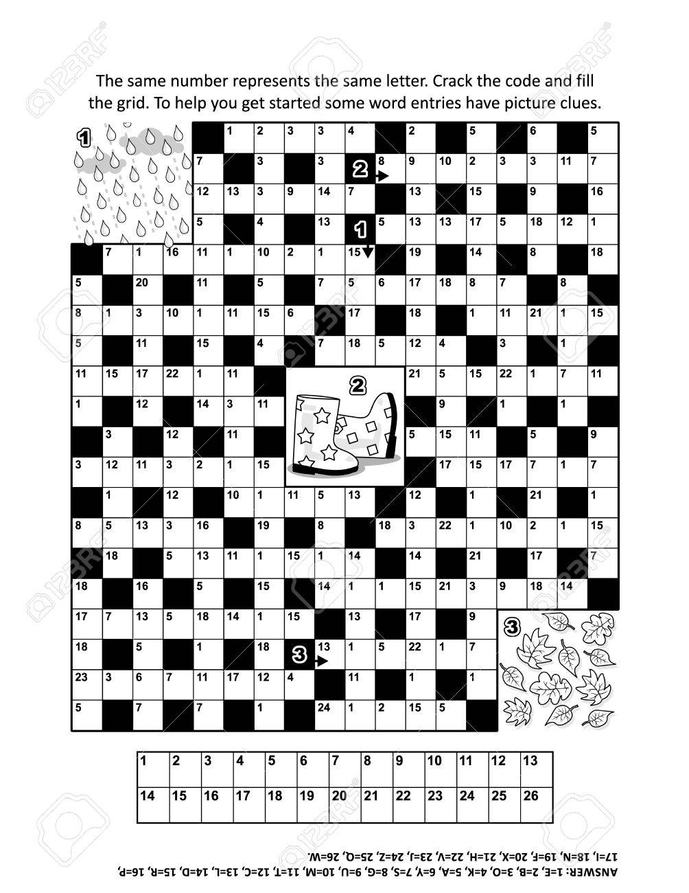 Codebreaker Or Codeword Code Cracker Crossword Puzzle Word Game With 9