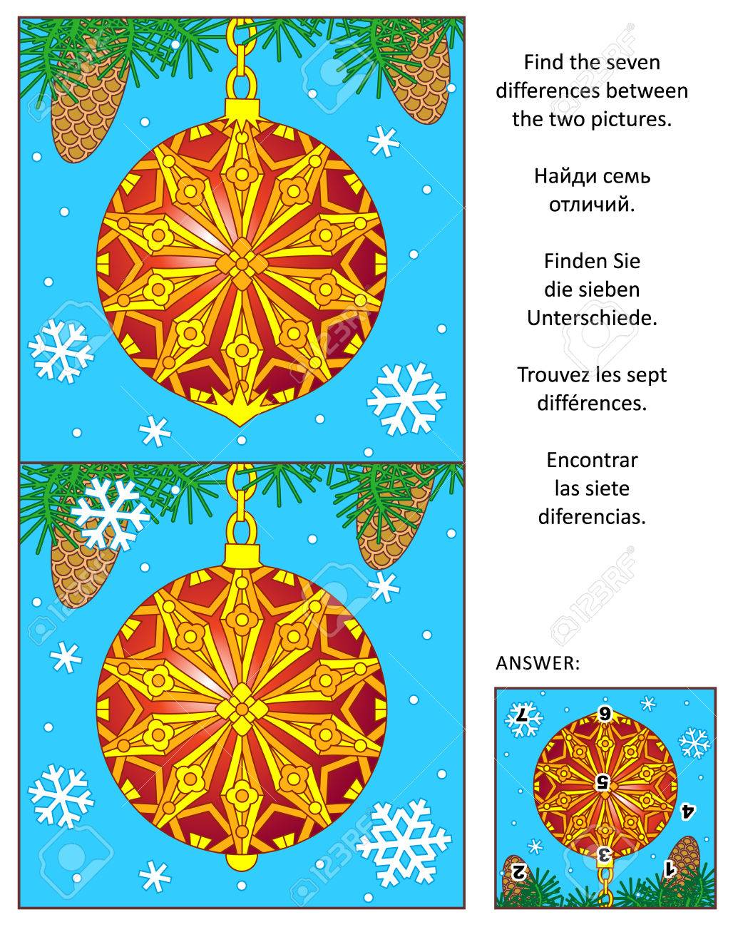 Rätsel Weihnachten Erwachsene.Stock Photo