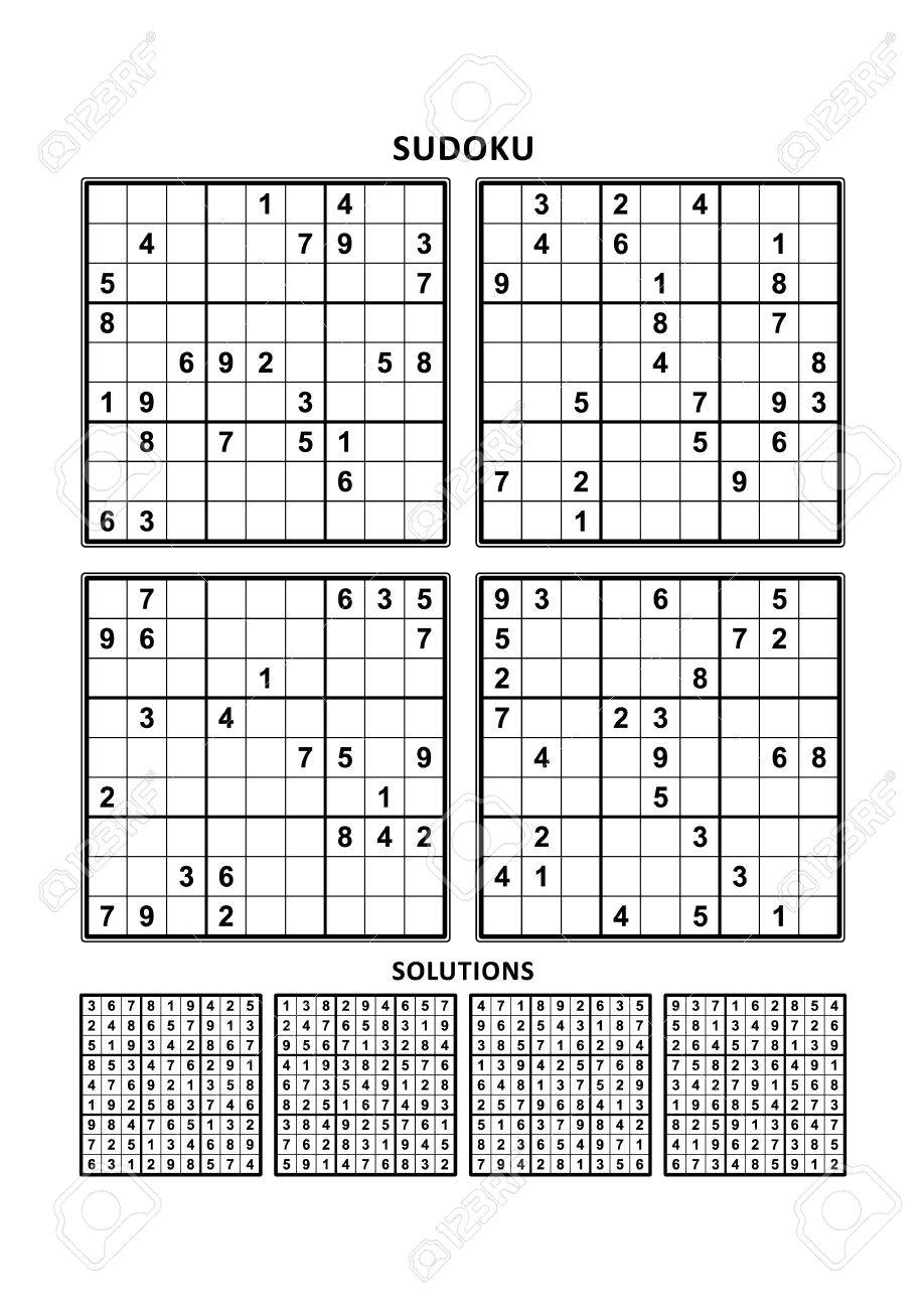 Four sudoku puzzles of comfortable (easy, yet not very easy)