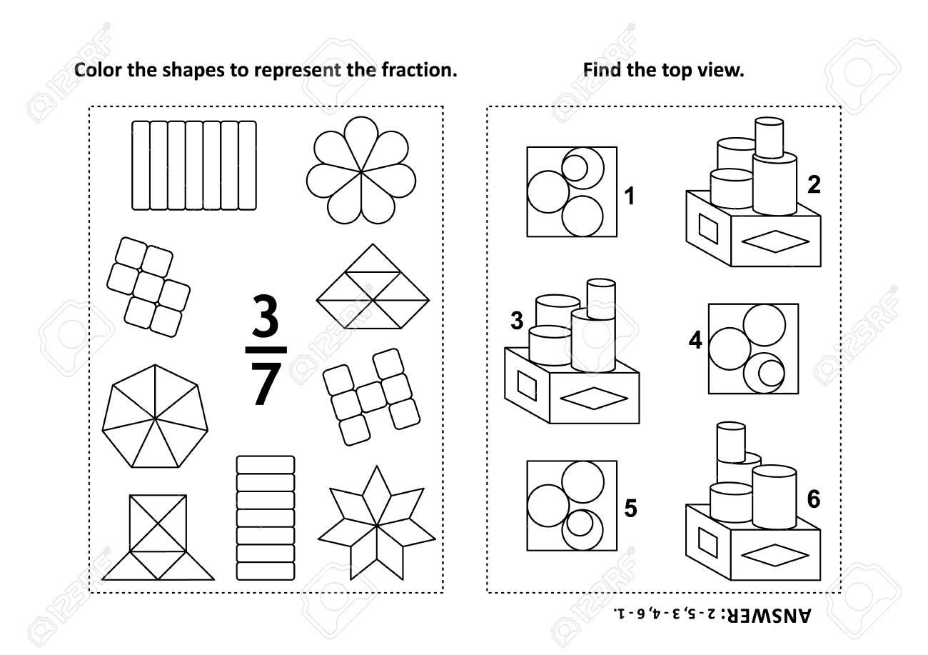 Dos Acertijos Matemáticos Visuales Y Páginas Para Colorear. Colorea ...