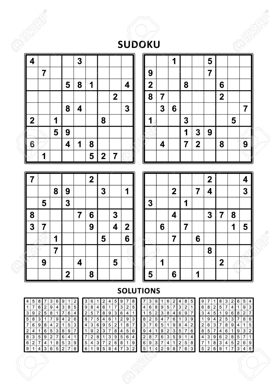 It is a photo of Printable Sudoku 4 Per Page intended for blank