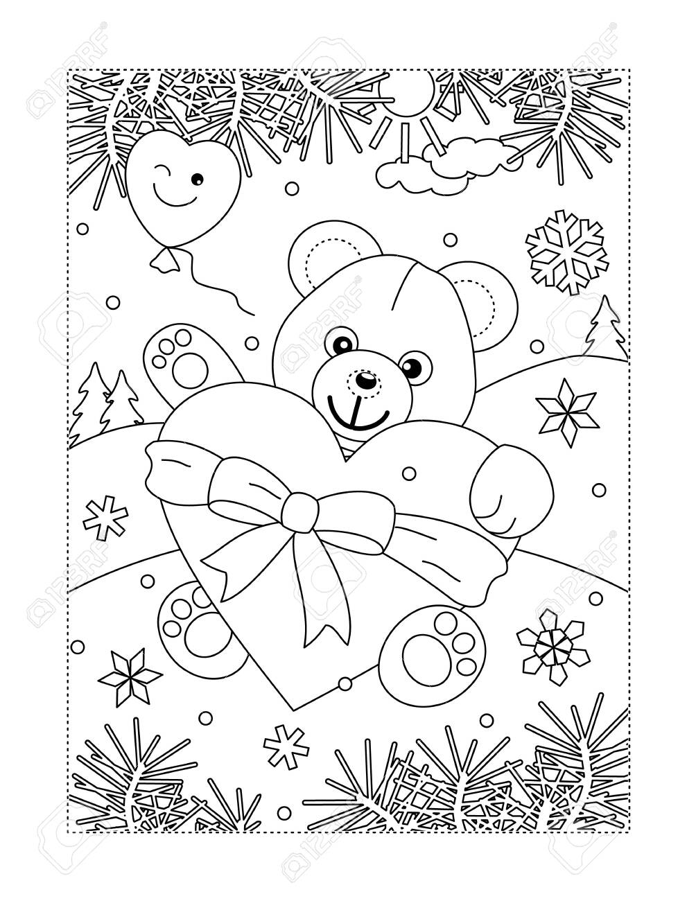 - Valentine's Day Coloring Page For Children Or Adults Lizenzfrei