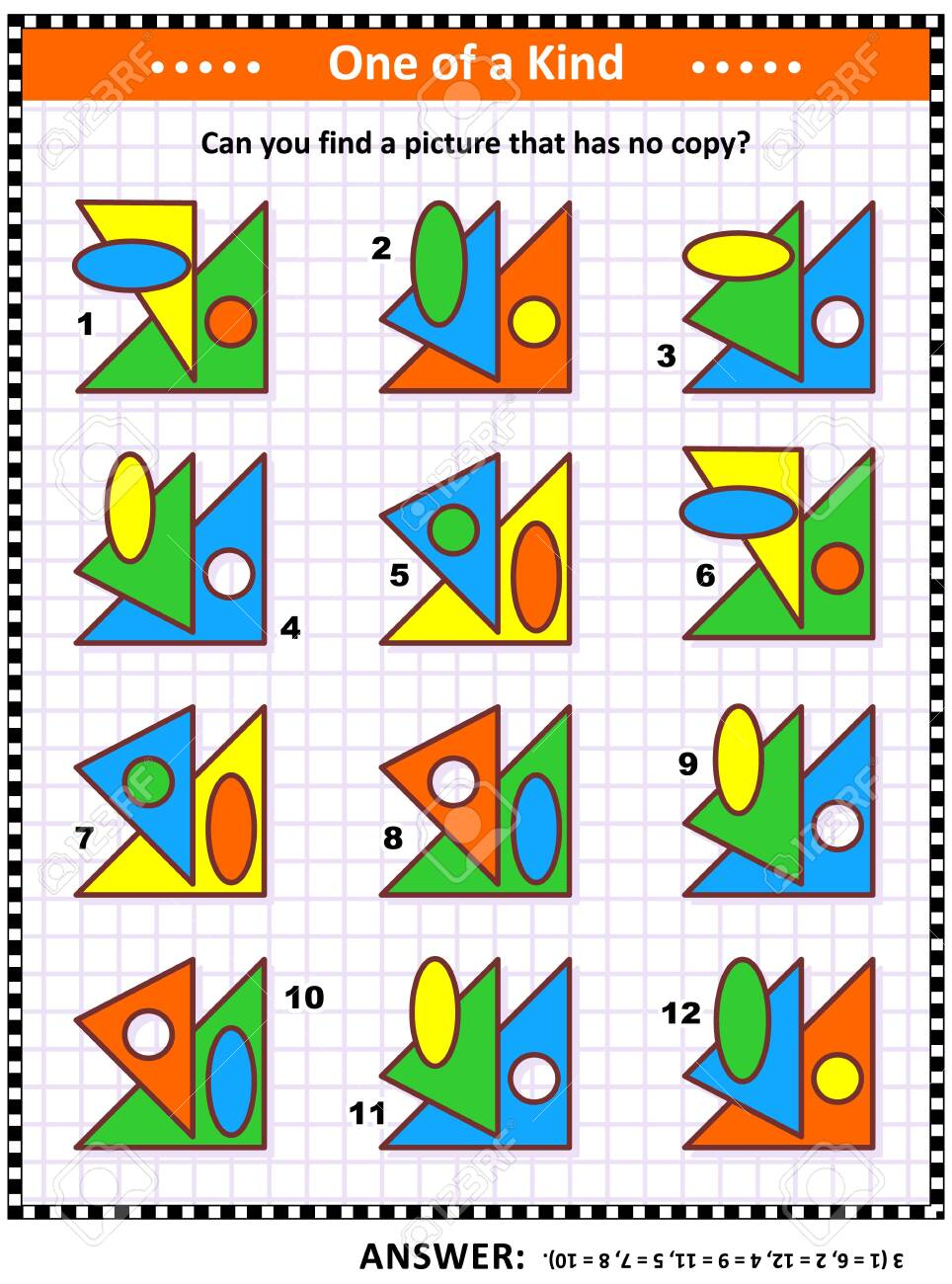 Iq Training Educational Math Puzzle For Kids And Adults With Royalty Free Cliparts Vectors And Stock Illustration Image 129961131