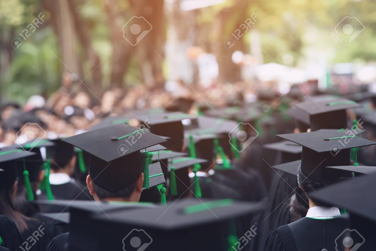 Group of Graduates during commencement. Concept education congratulation in University. Graduation Ceremony - 124961246