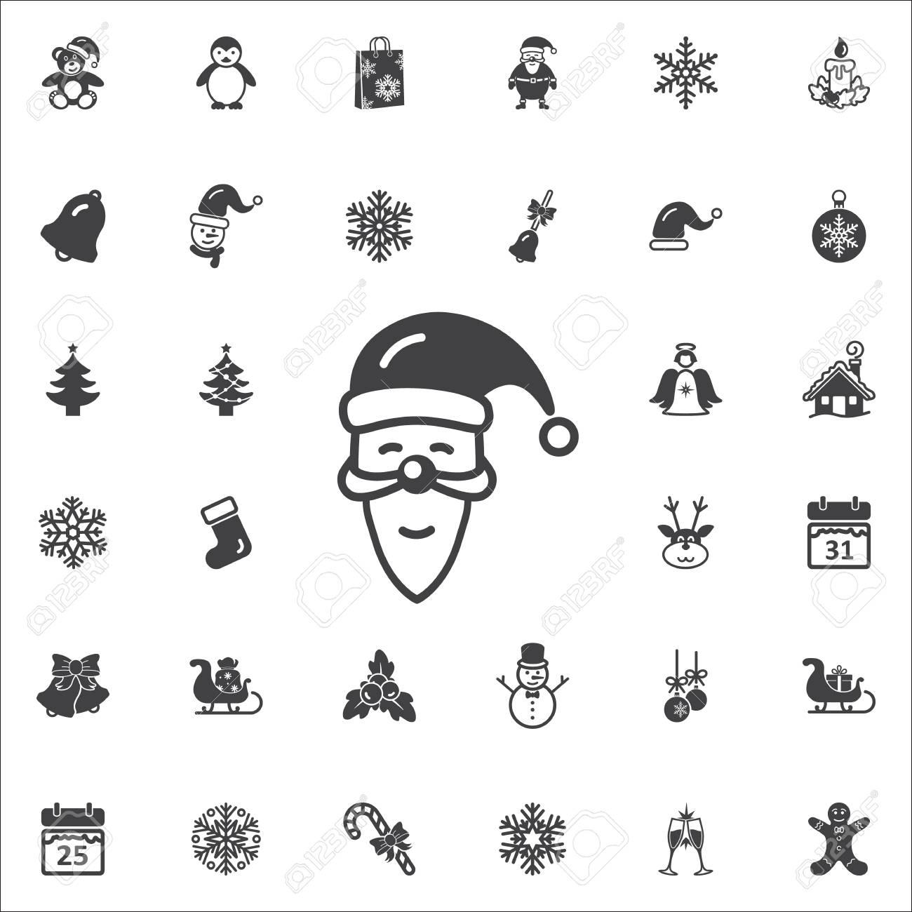 Christmas Holidays Icon.Santa Claus Icon New Year Set Of Icons Christmas Holidays