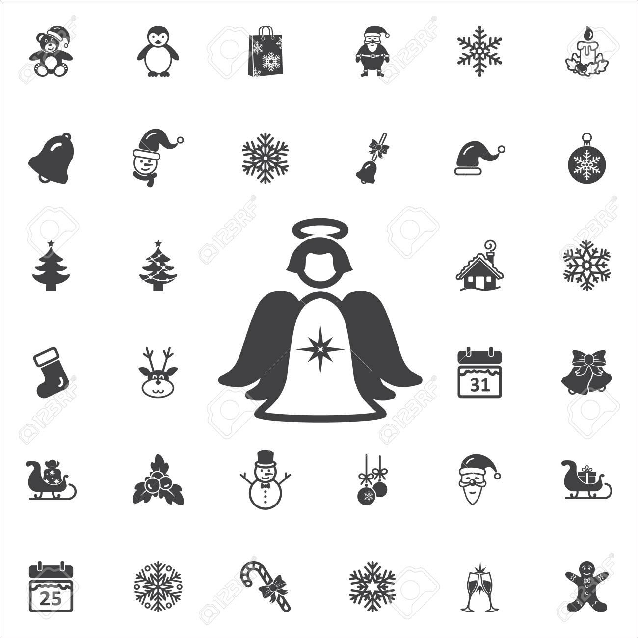 Christmas Holidays Icon.Christmas Angel Icon New Year Set Of Icons Christmas Holidays