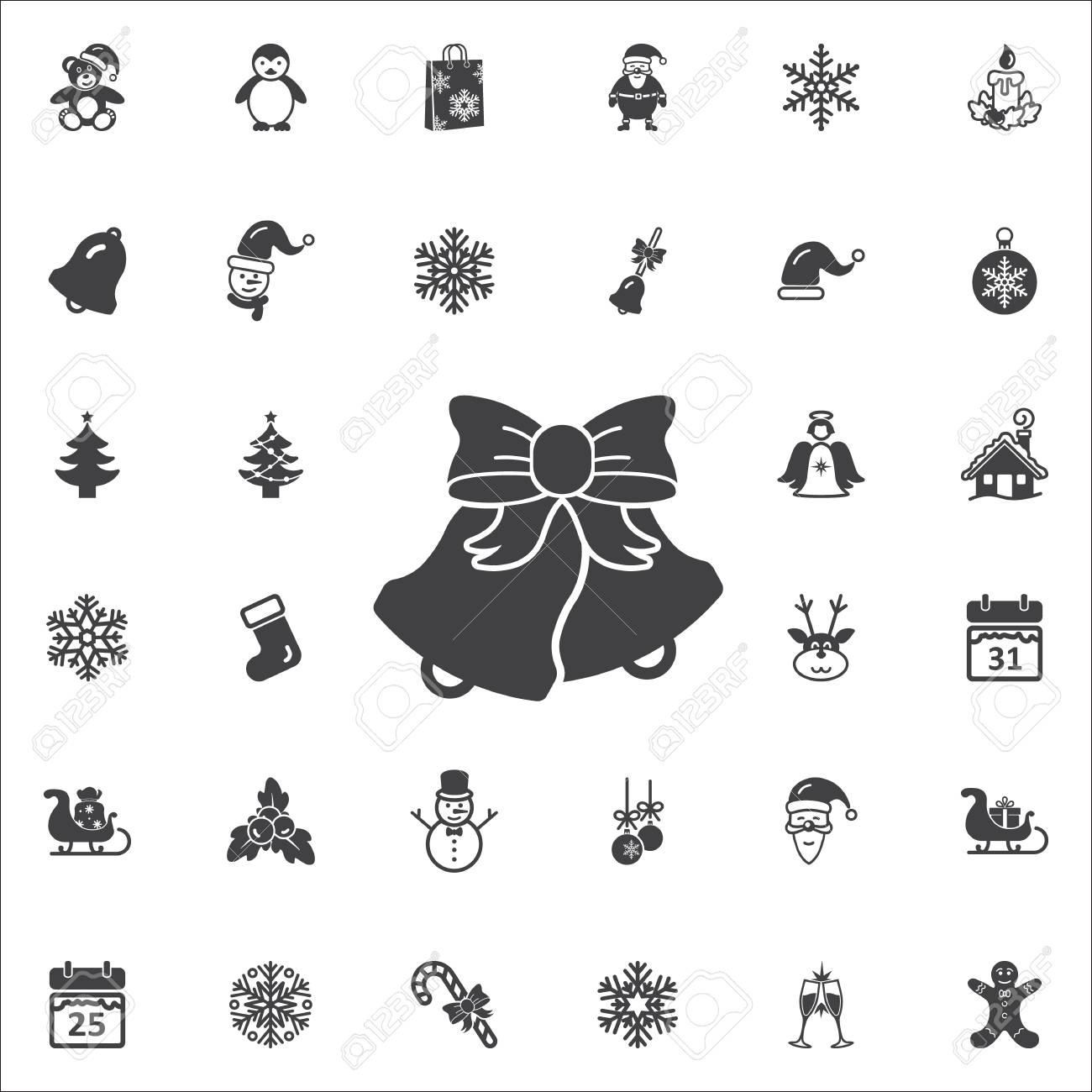 Christmas Holidays Icon.Christmas Bell Icon New Year Set Of Icons Christmas Holidays
