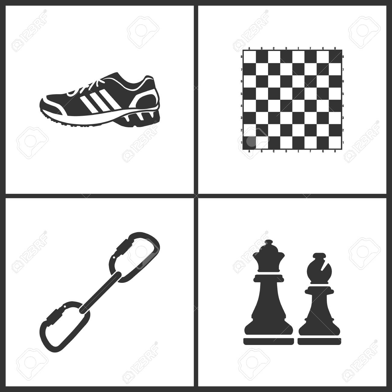 942136491a Vector - Vector Illustration of Sport Set Icons. Elements of Sneakers