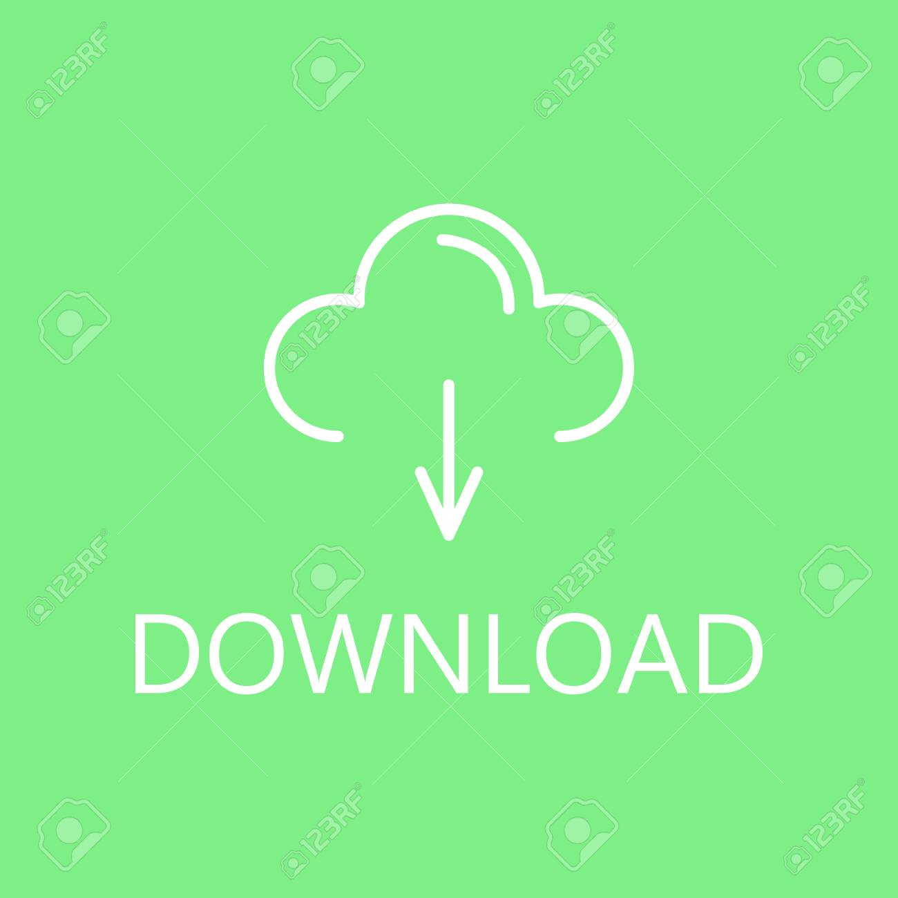 Download, linear icon  Web download line icon  High quality outline