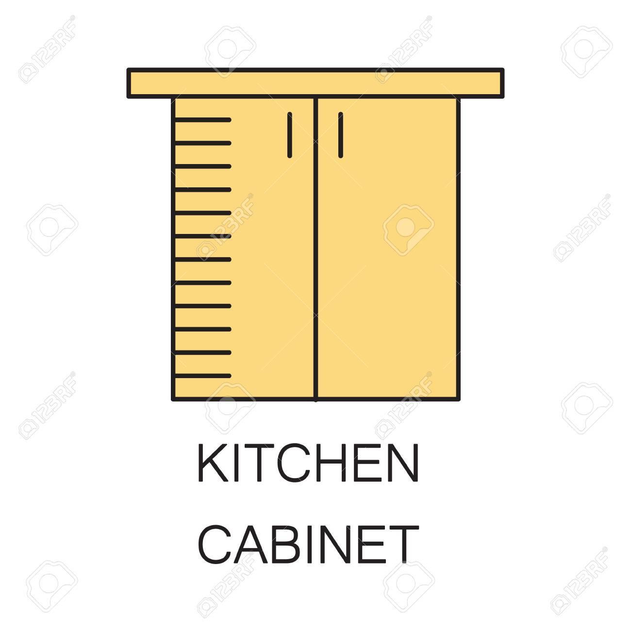 Mobile A Scaffali.Scaffali Da Cucina Icona Hhigh Elemento Contorno Di Qualita Sul Tema Del Mobile Da Cucina Vector Colore Simbolo Per La Progettazione Del Sito Web