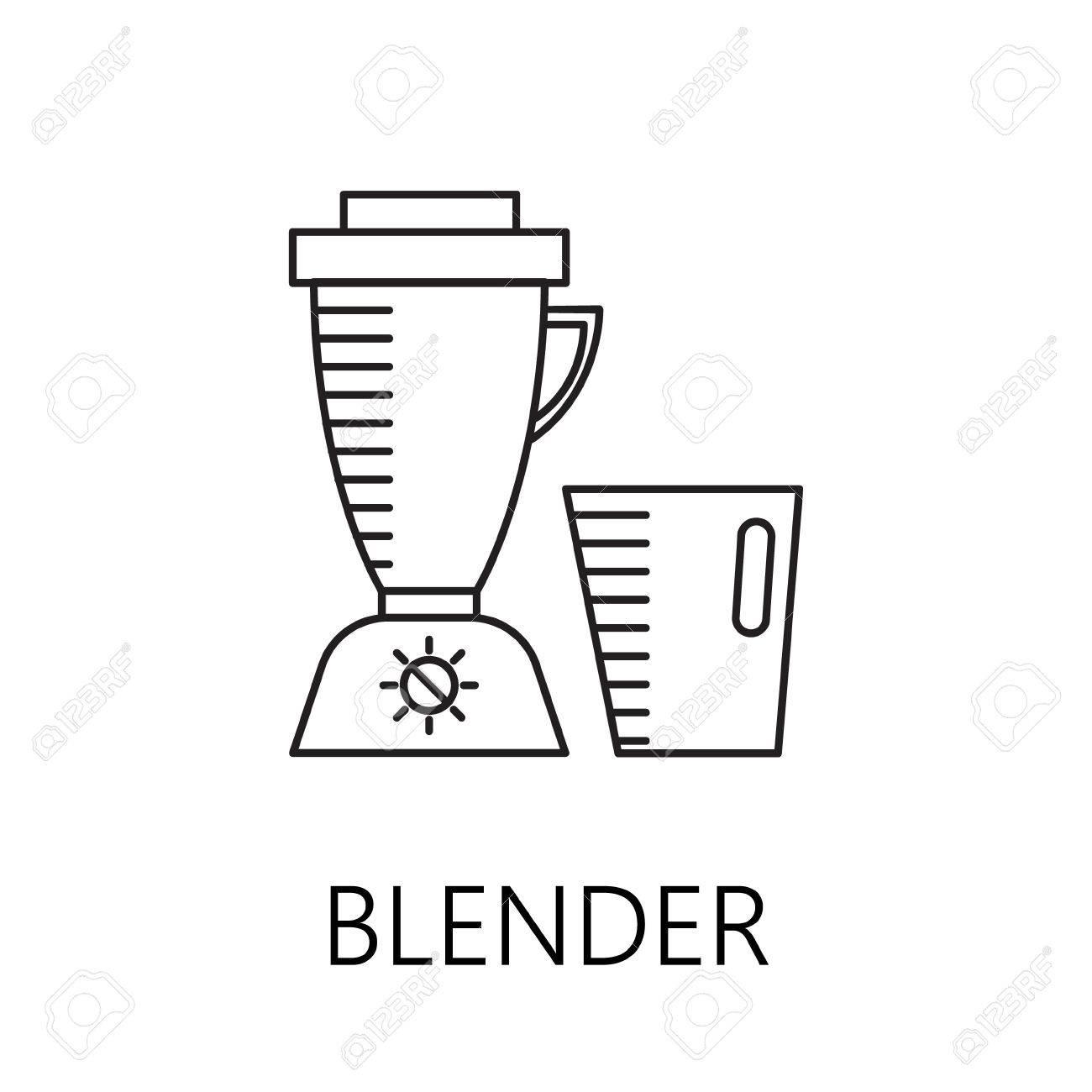 Blender-Linie-Symbol. Vektor-Symbol Zum Thema Home Elektronische ...