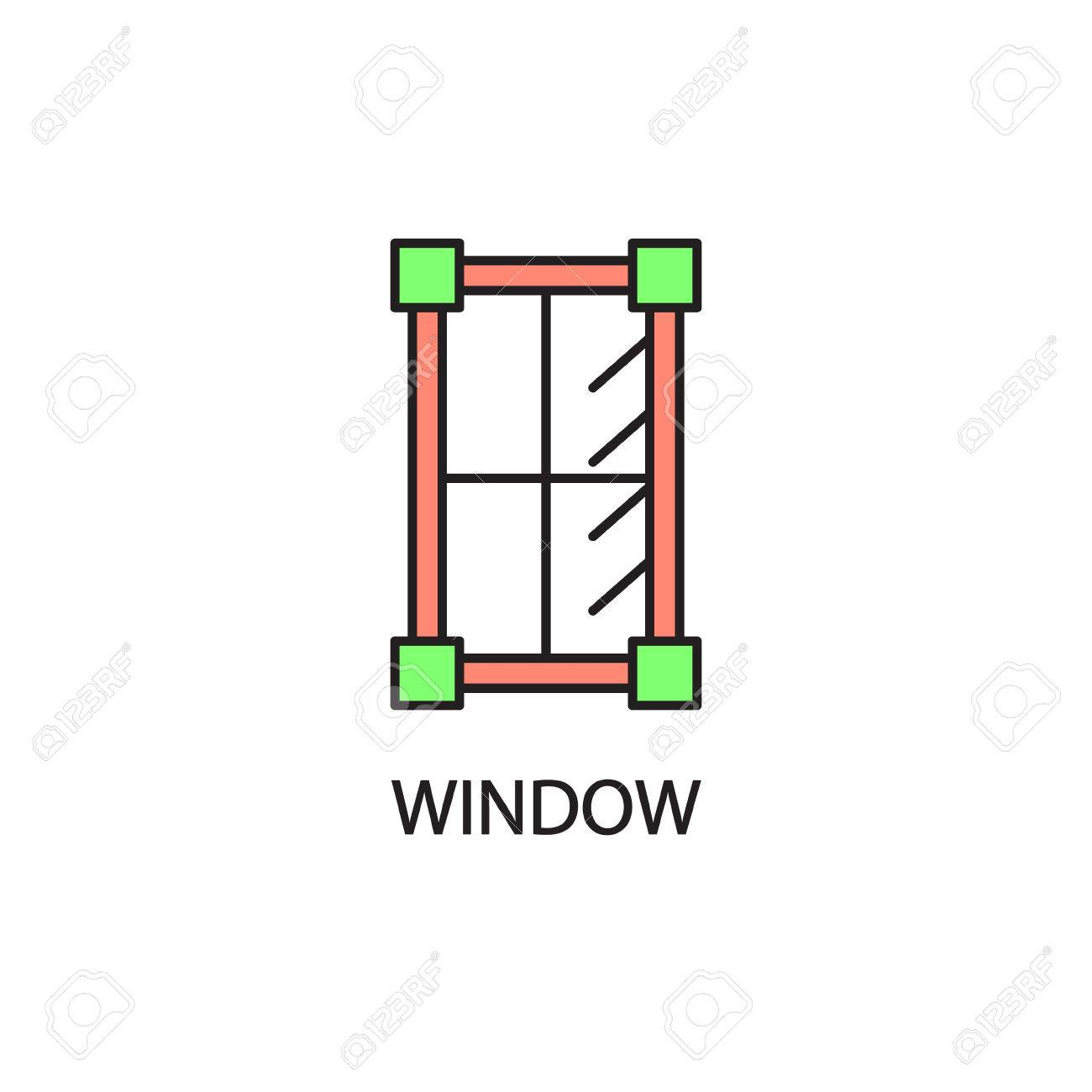 Window line icon high quality pictogram of window for homes high quality pictogram of window for homes interior outline vector symbol for design website or mobile app thin line sign of mirror for logo visit card ccuart Image collections
