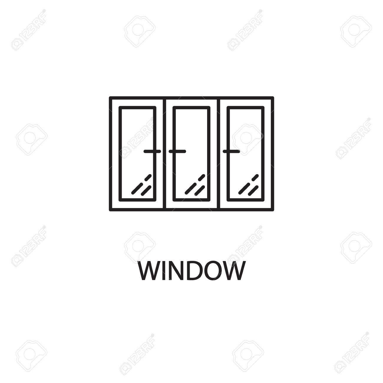 Fensterlinie Symbol. Hochwertiges Piktogramm Fenster Für Das Zuhause ...