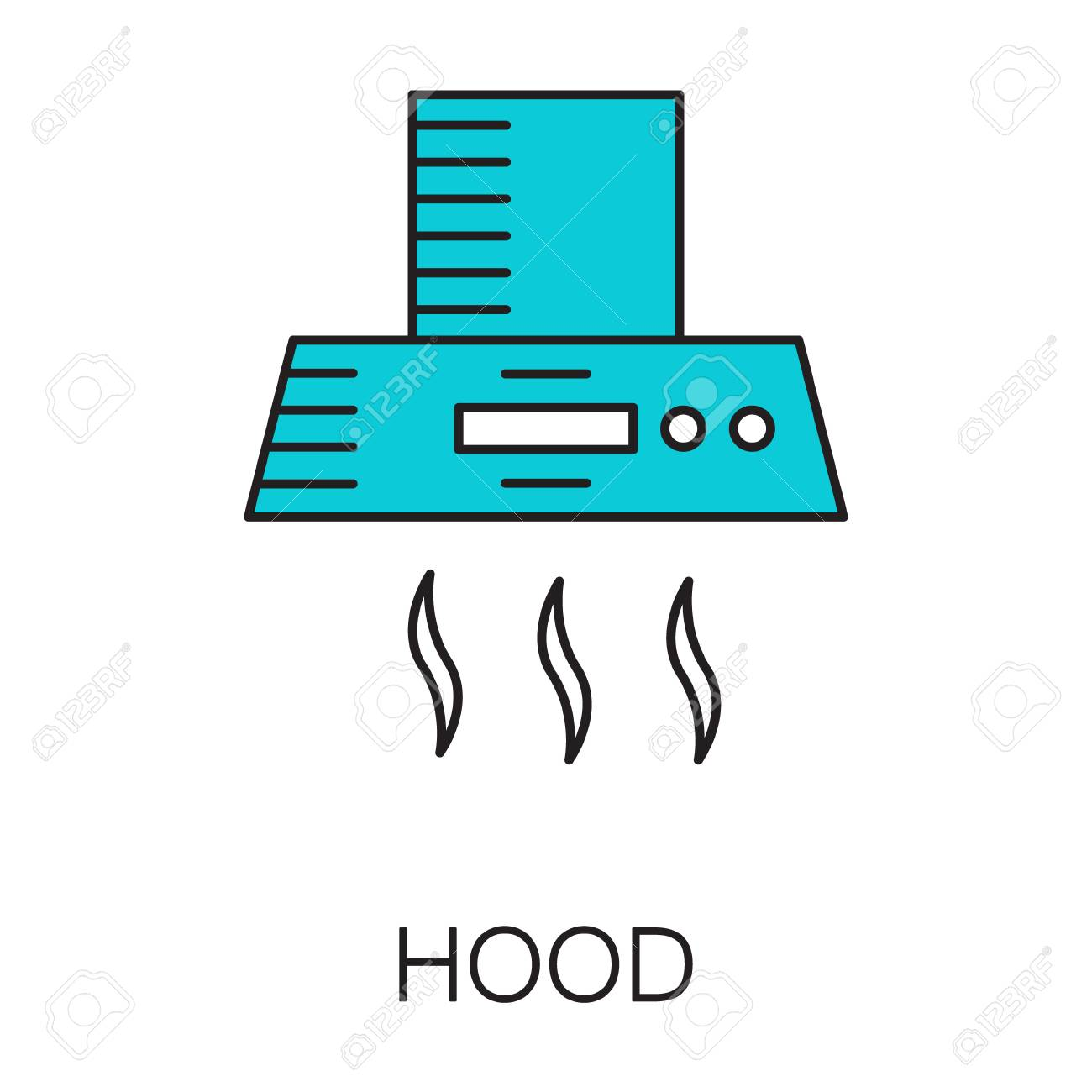 Kitchen Hood Icon. Hhigh Quality Outline Element On The Topic ...