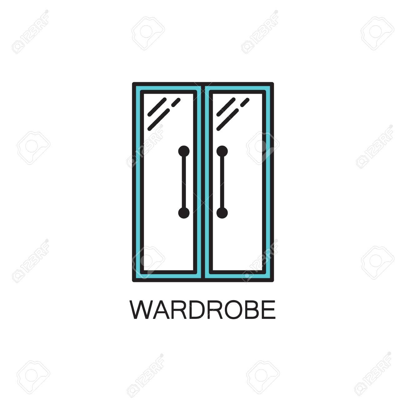 Schrank Linie Symbol. Hochwertiges Piktogramm Kleiderschrank Für Das ...