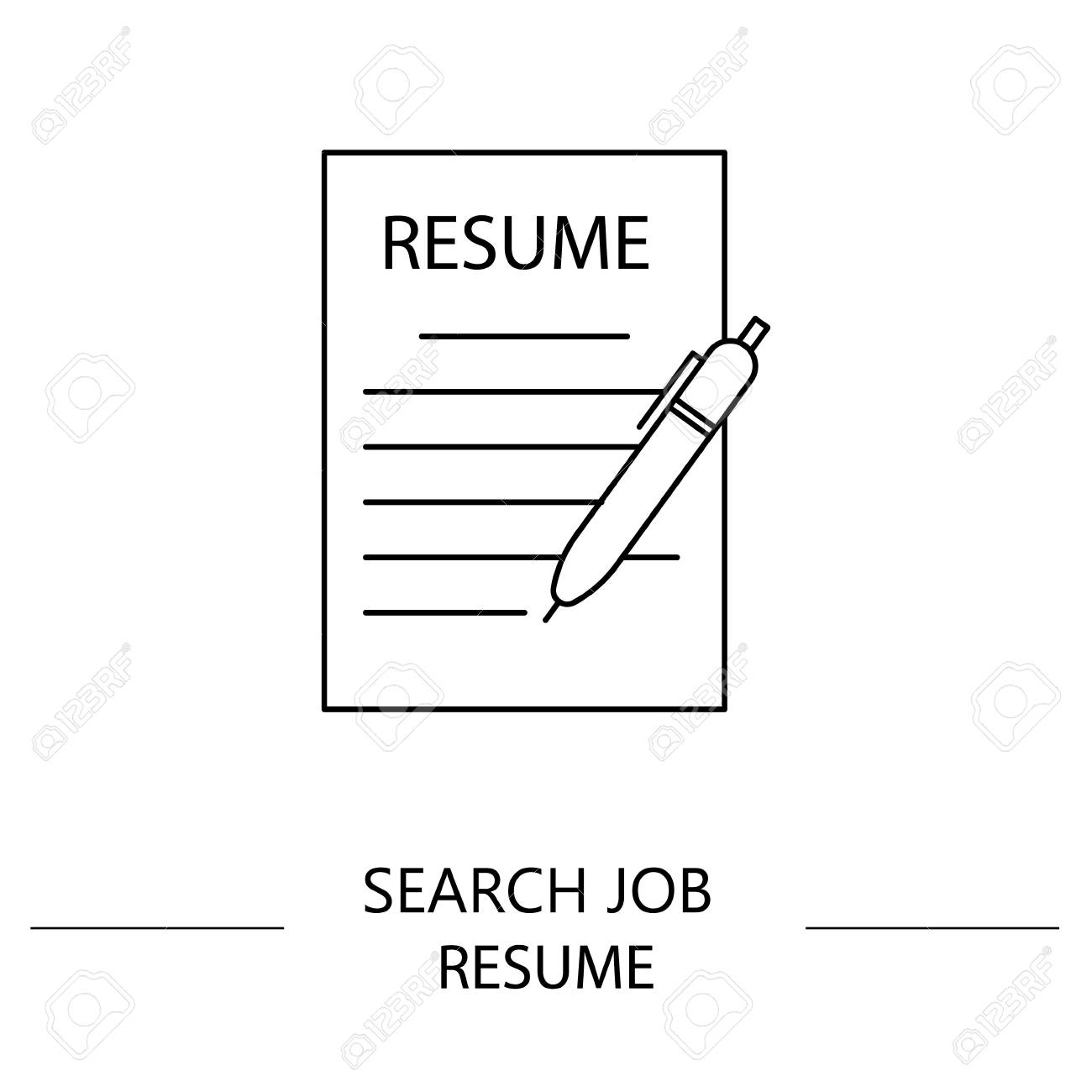 resume vector icon search job vector icon button for websites