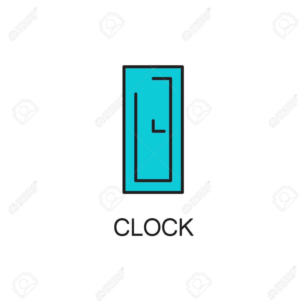 Sito Per Progettare Casa icona linea di clock. pittogramma alta qualità dei mobili di casa. outline  simbolo per il sito web di progettazione o app mobile. sottile linea di